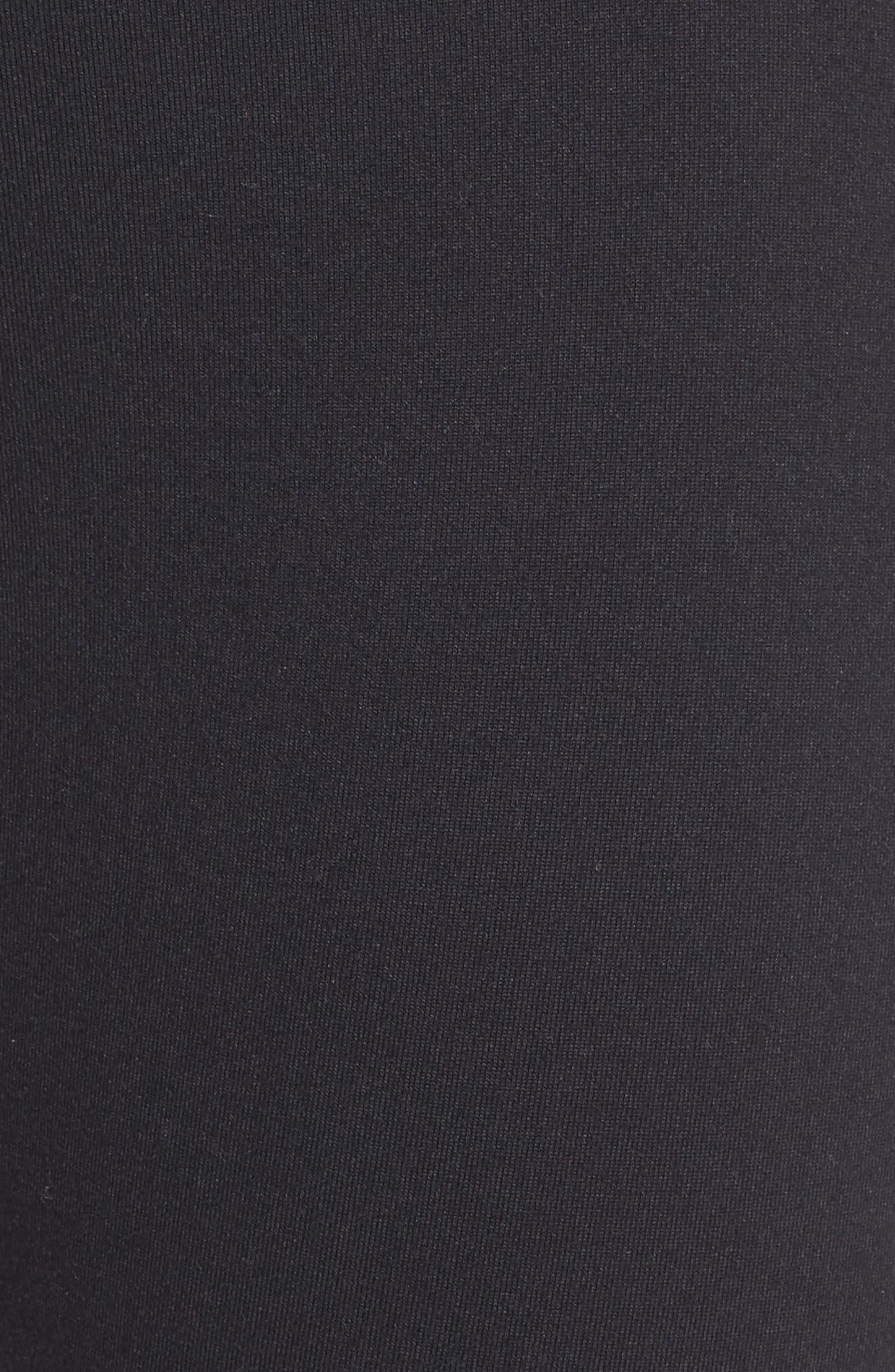 'Hatha' High Waist Crop Leggings,                             Alternate thumbnail 6, color,                             BLACK
