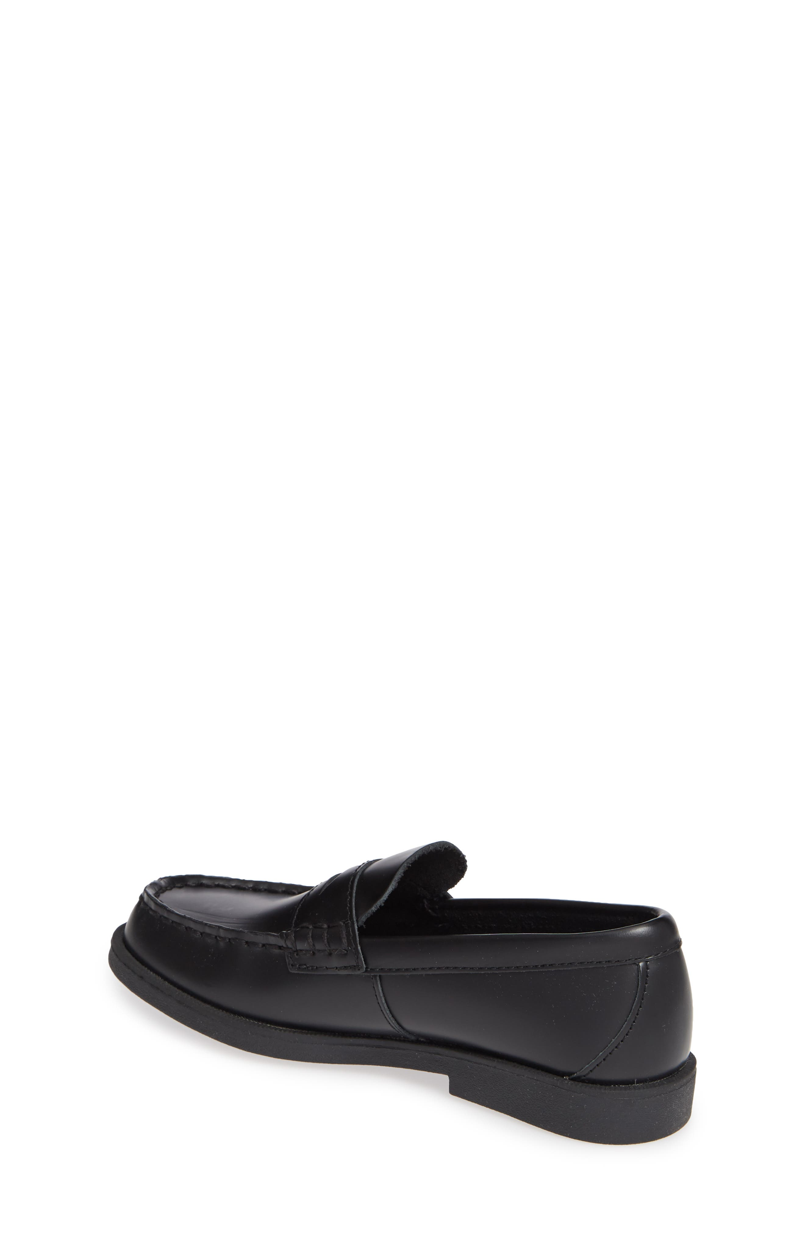 SPERRY KIDS,                             'Colton' Loafer,                             Alternate thumbnail 3, color,                             BLACK LEATHER