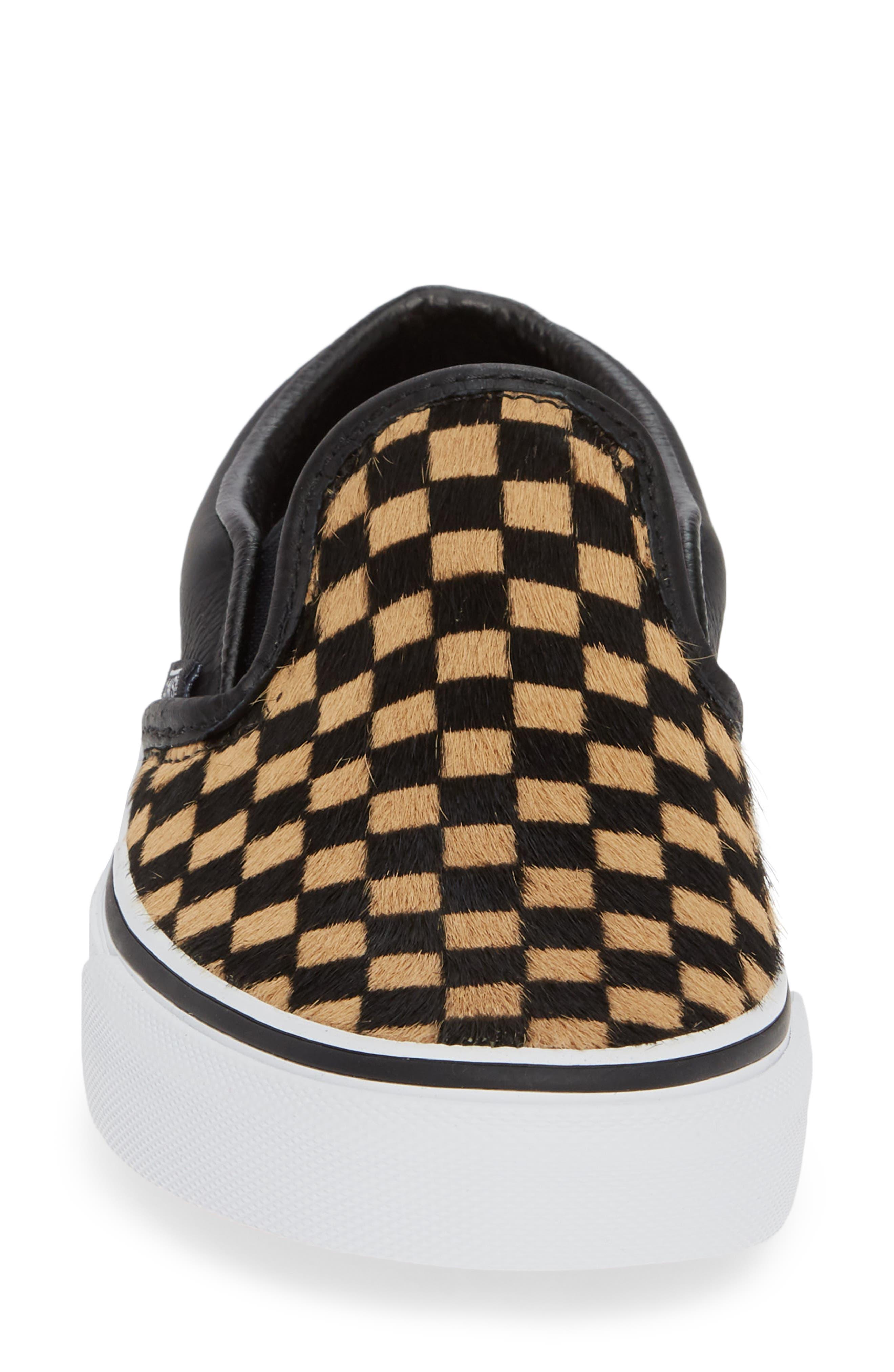 VANS,                             UA Classic Genuine Calf Hair Slip-On Sneaker,                             Alternate thumbnail 4, color,                             001
