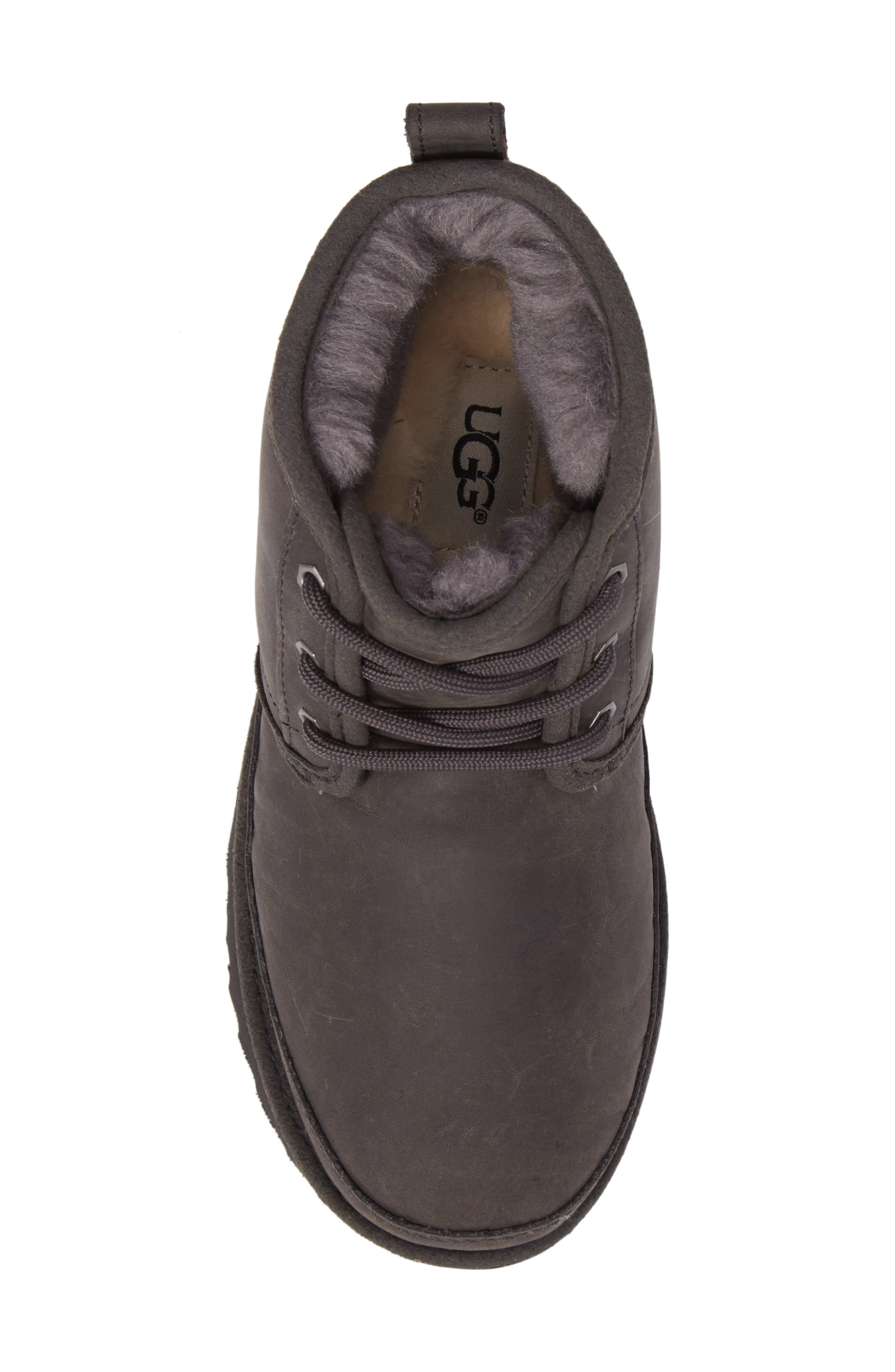 Neumel II Waterproof Chukka,                             Alternate thumbnail 5, color,                             CHARCOAL