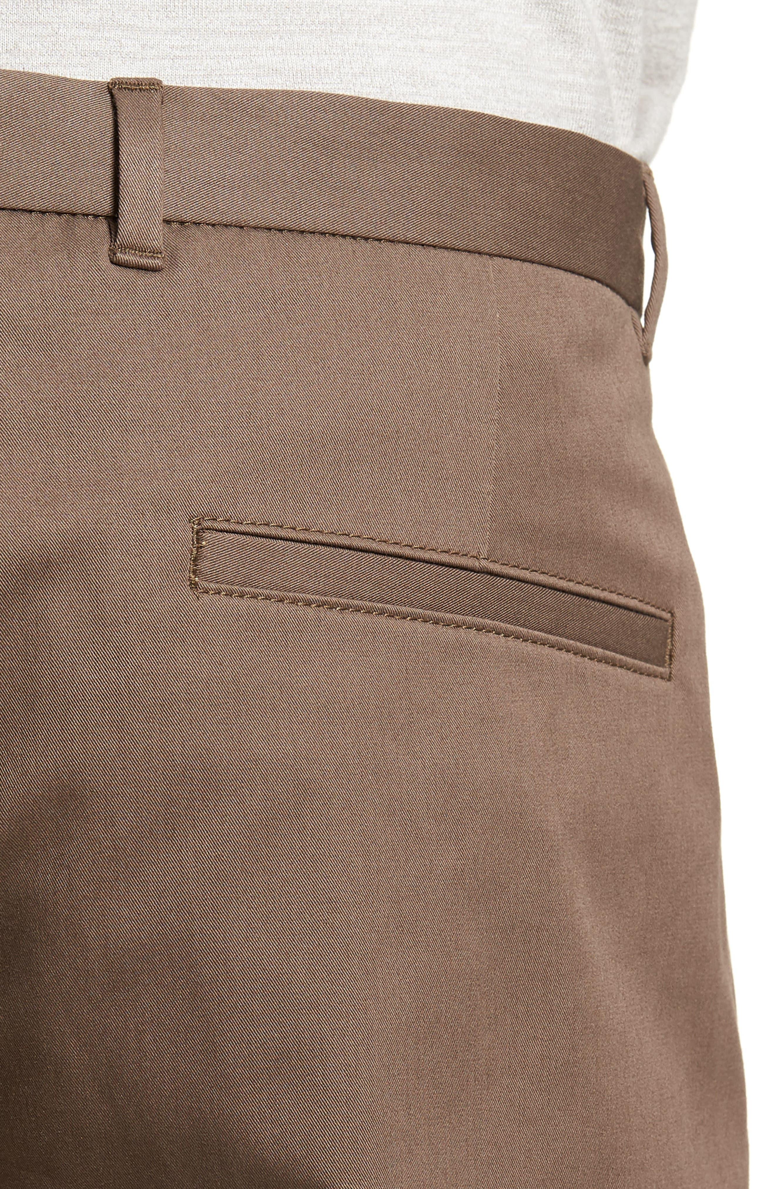 HUGO,                             Hano Flat Front Shorts,                             Alternate thumbnail 4, color,                             250