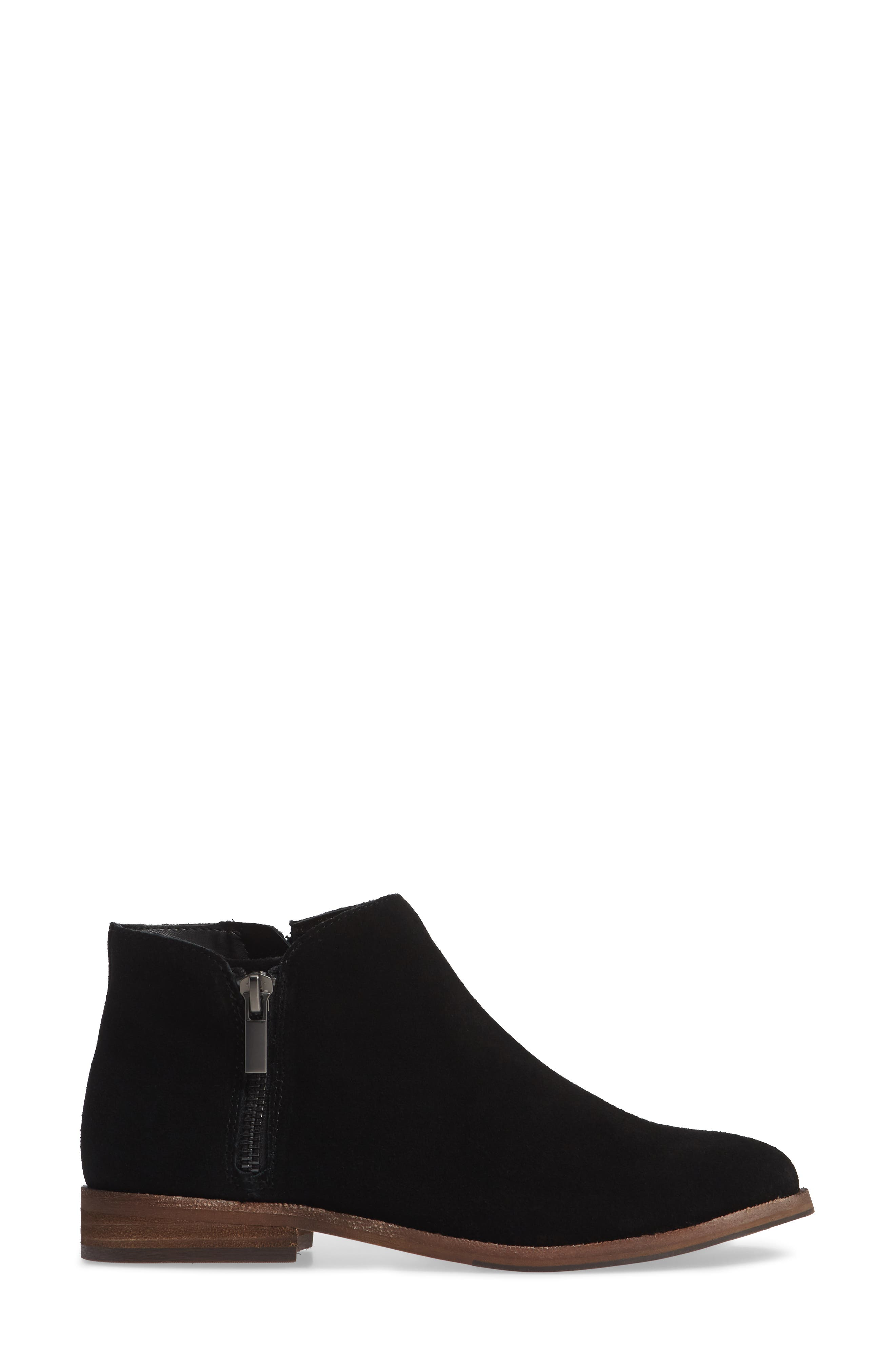 Bevlyn Bootie,                             Alternate thumbnail 3, color,                             BLACK SUEDE
