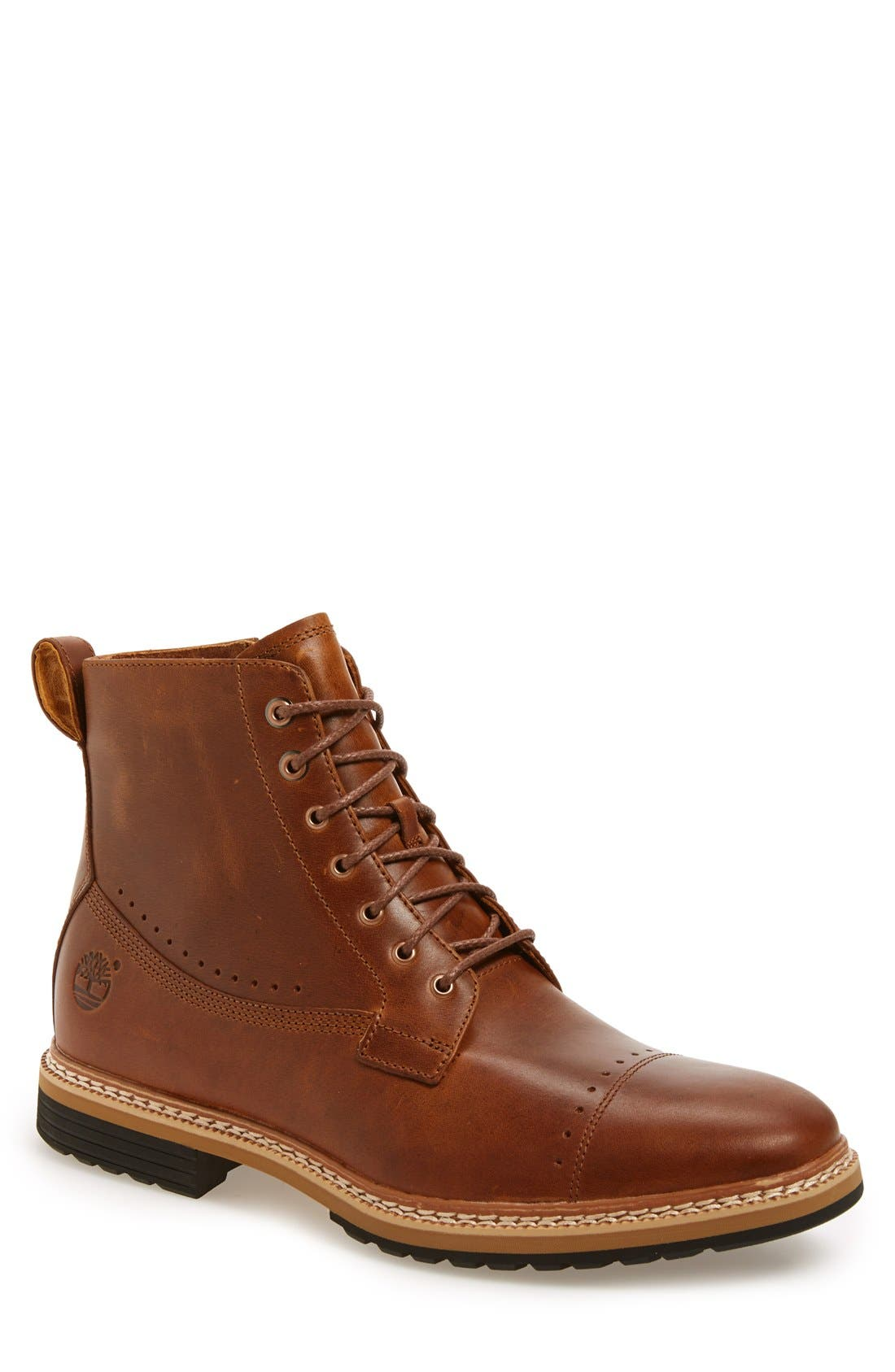 Westhaven 6 Side Zip Boot,                         Main,                         color, LIGHT BROWN LEATHER