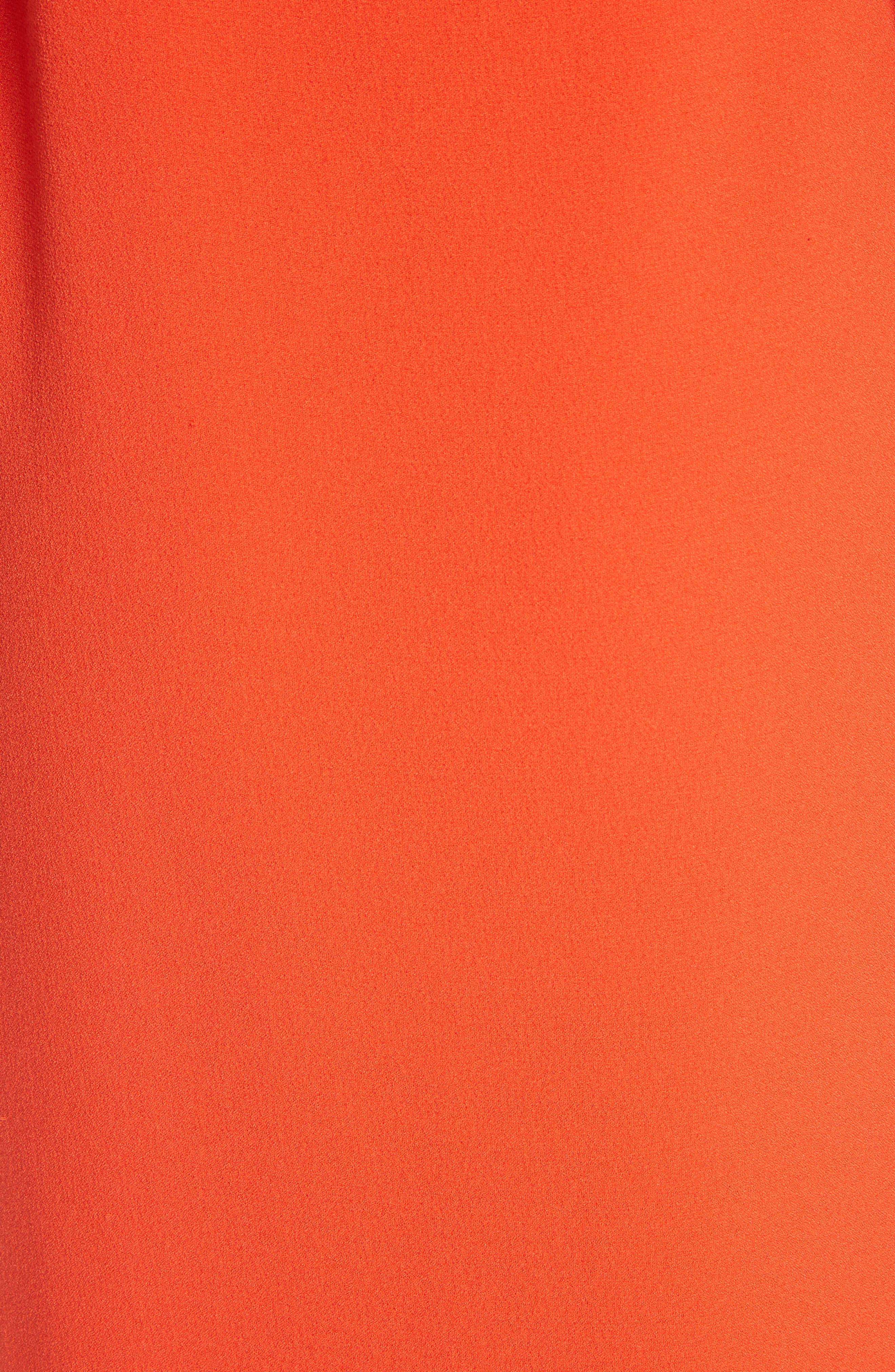 Clark Ruffle Maxi Dress,                             Alternate thumbnail 5, color,                             BIG APPLE RED