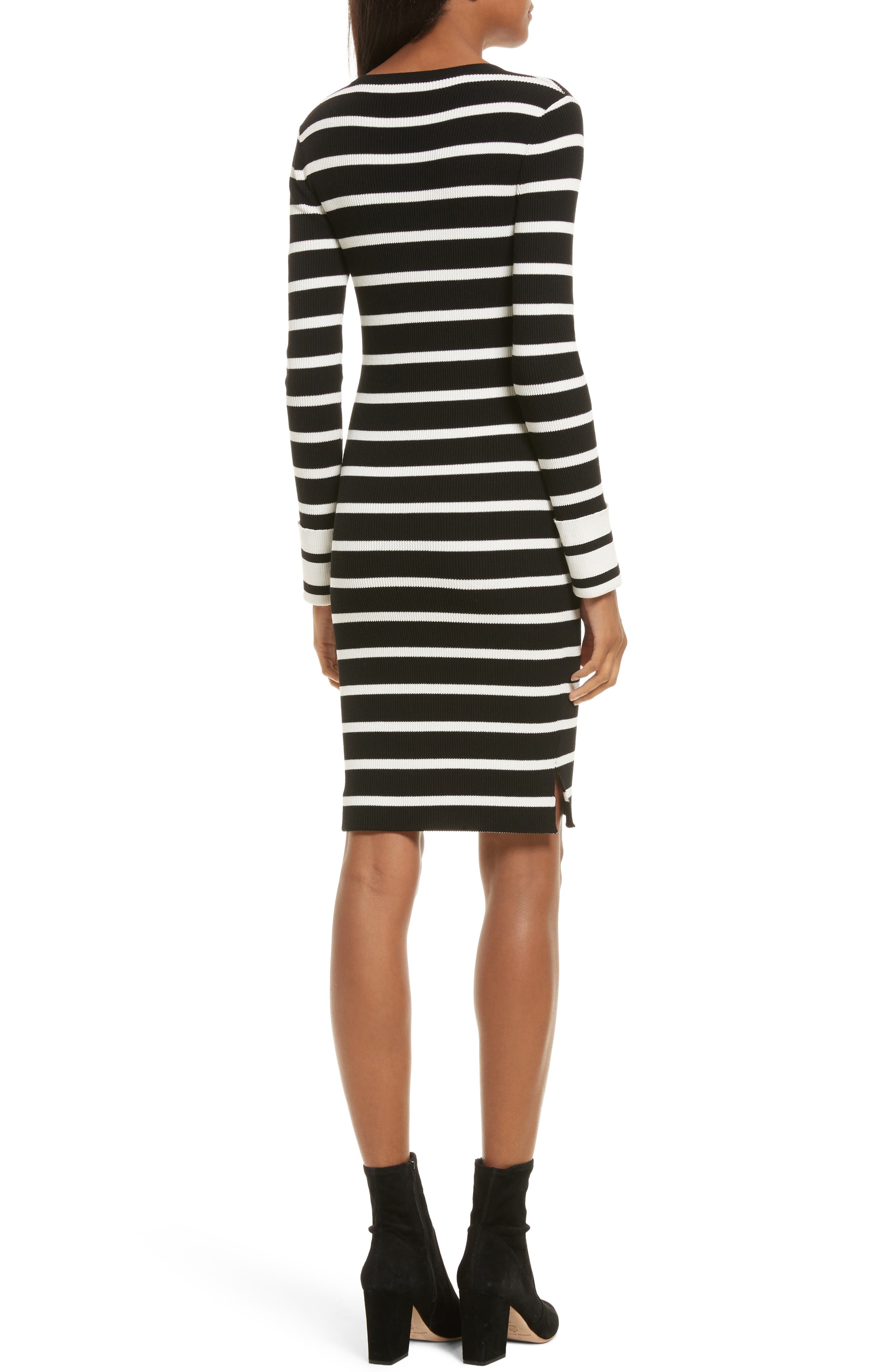 Prosecco Stripe Knit Dress,                             Alternate thumbnail 2, color,                             016