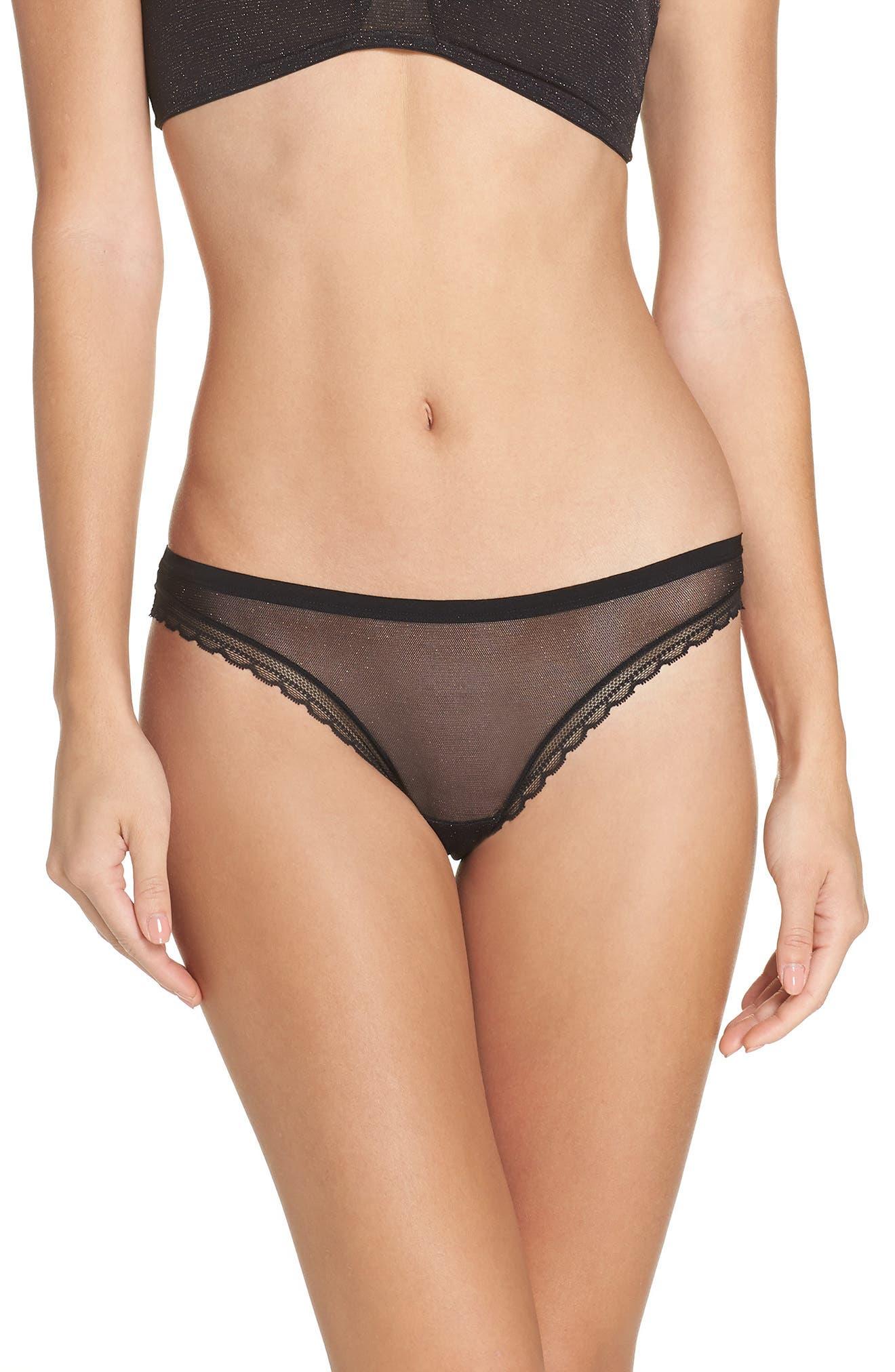 Mesh Bikini,                         Main,                         color, BLACK SHIMMER