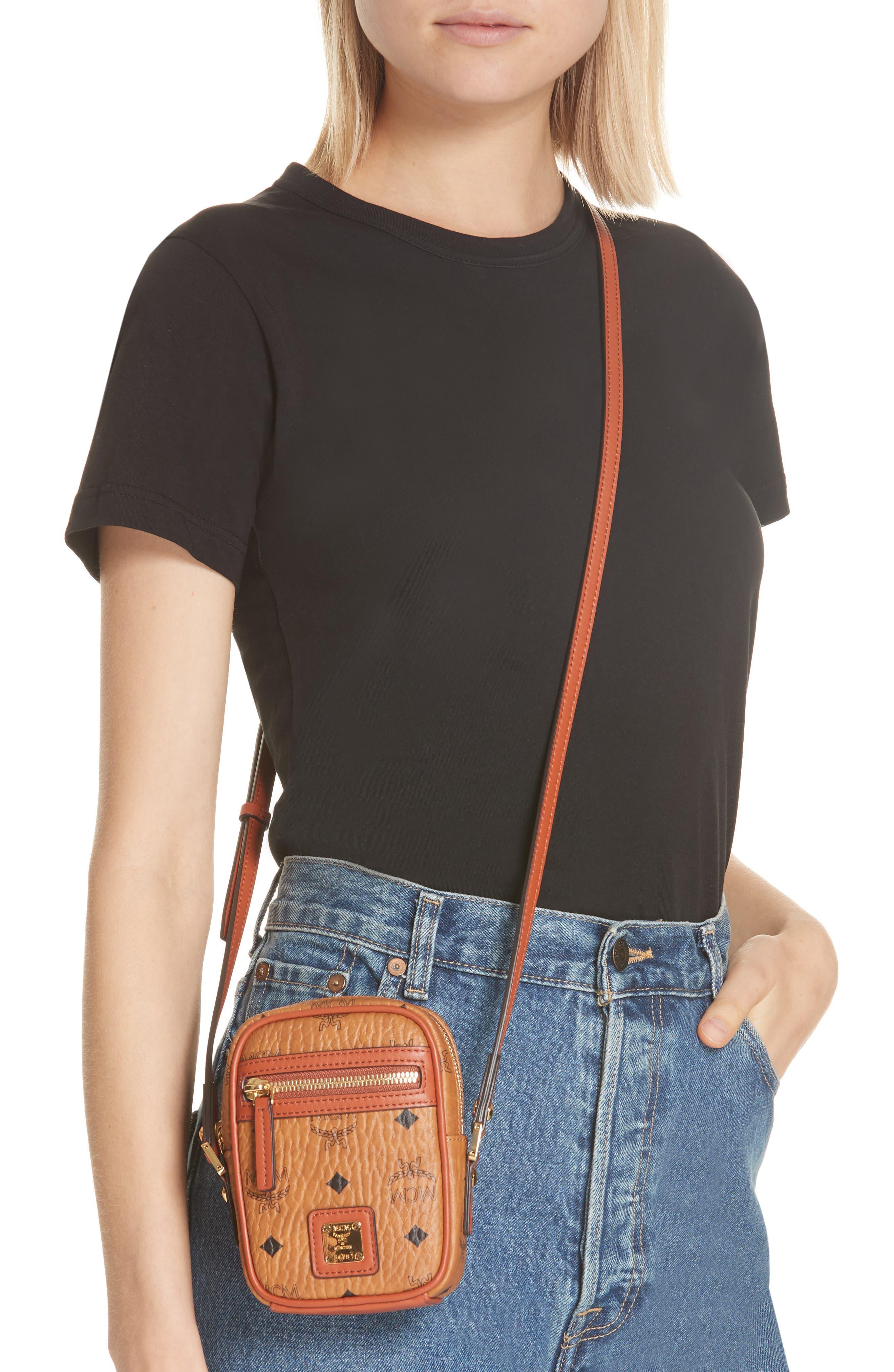 Mini Vintage Crossbody Bag,                             Alternate thumbnail 2, color,                             COGNAC