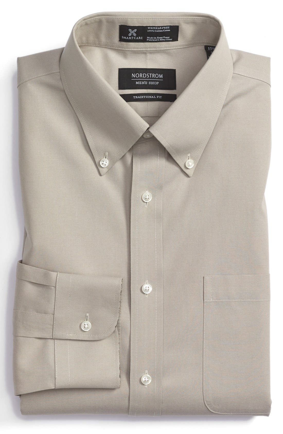 Smartcare<sup>™</sup> Traditional Fit Pinpoint Dress Shirt,                             Main thumbnail 9, color,