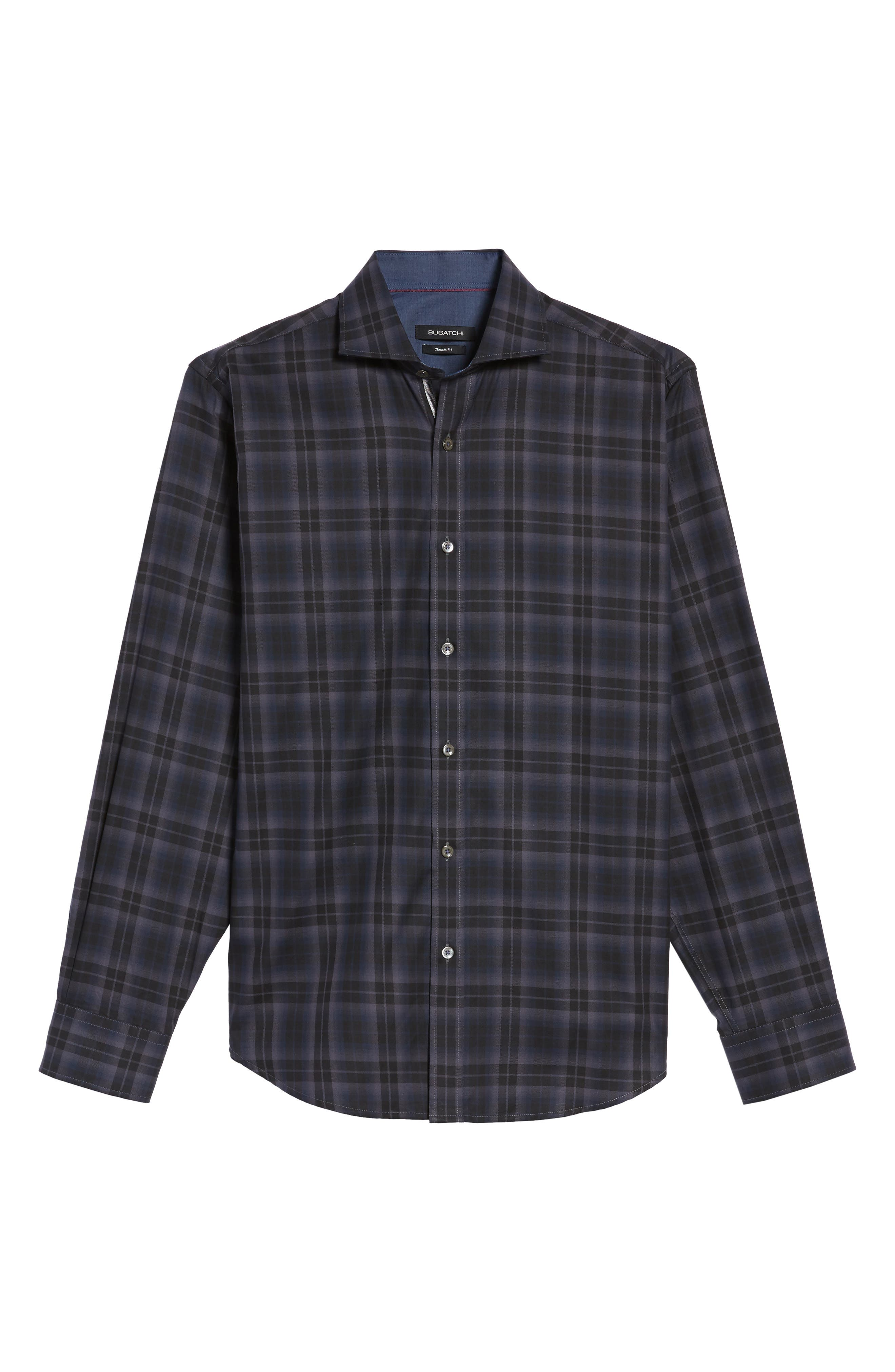 Classic Fit Large Check Twill Sport Shirt,                             Alternate thumbnail 6, color,                             020