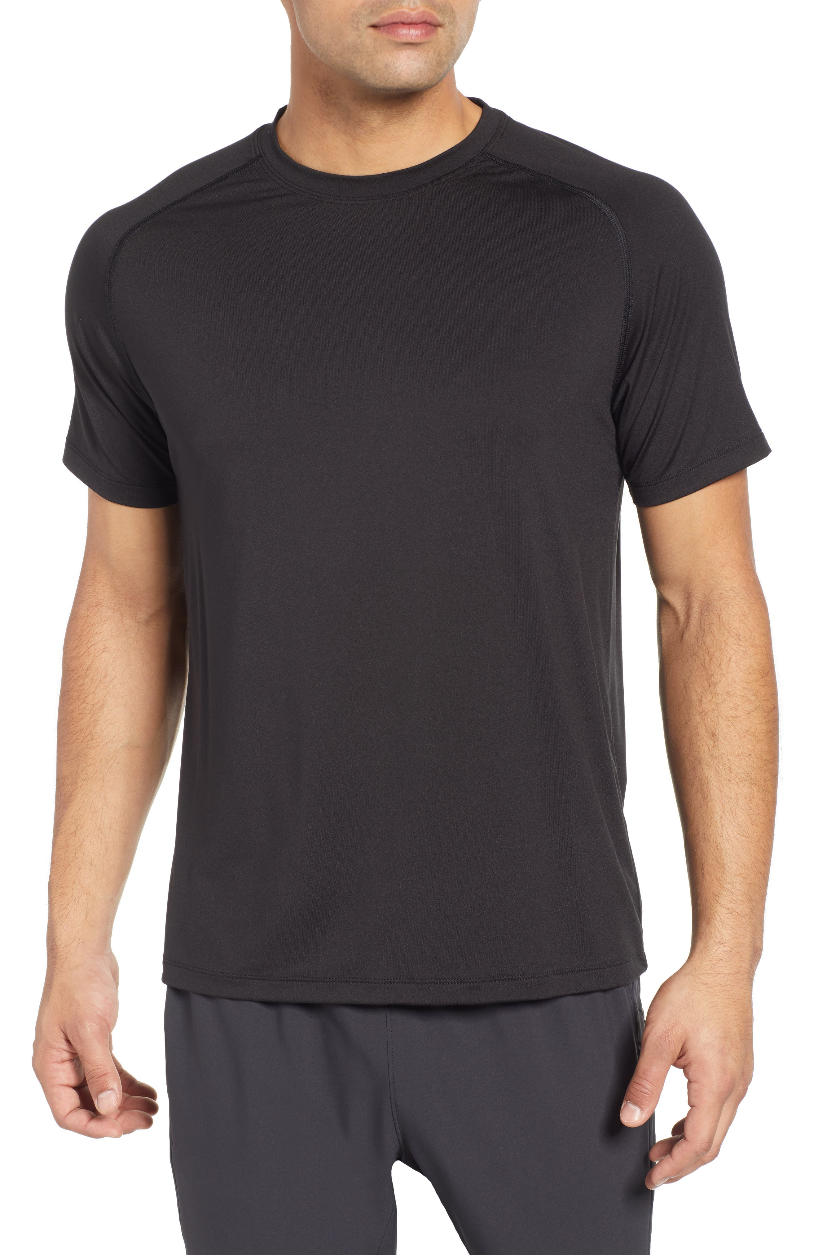 Rio Regular Fit Technical T-Shirt,                             Main thumbnail 1, color,                             BLACK