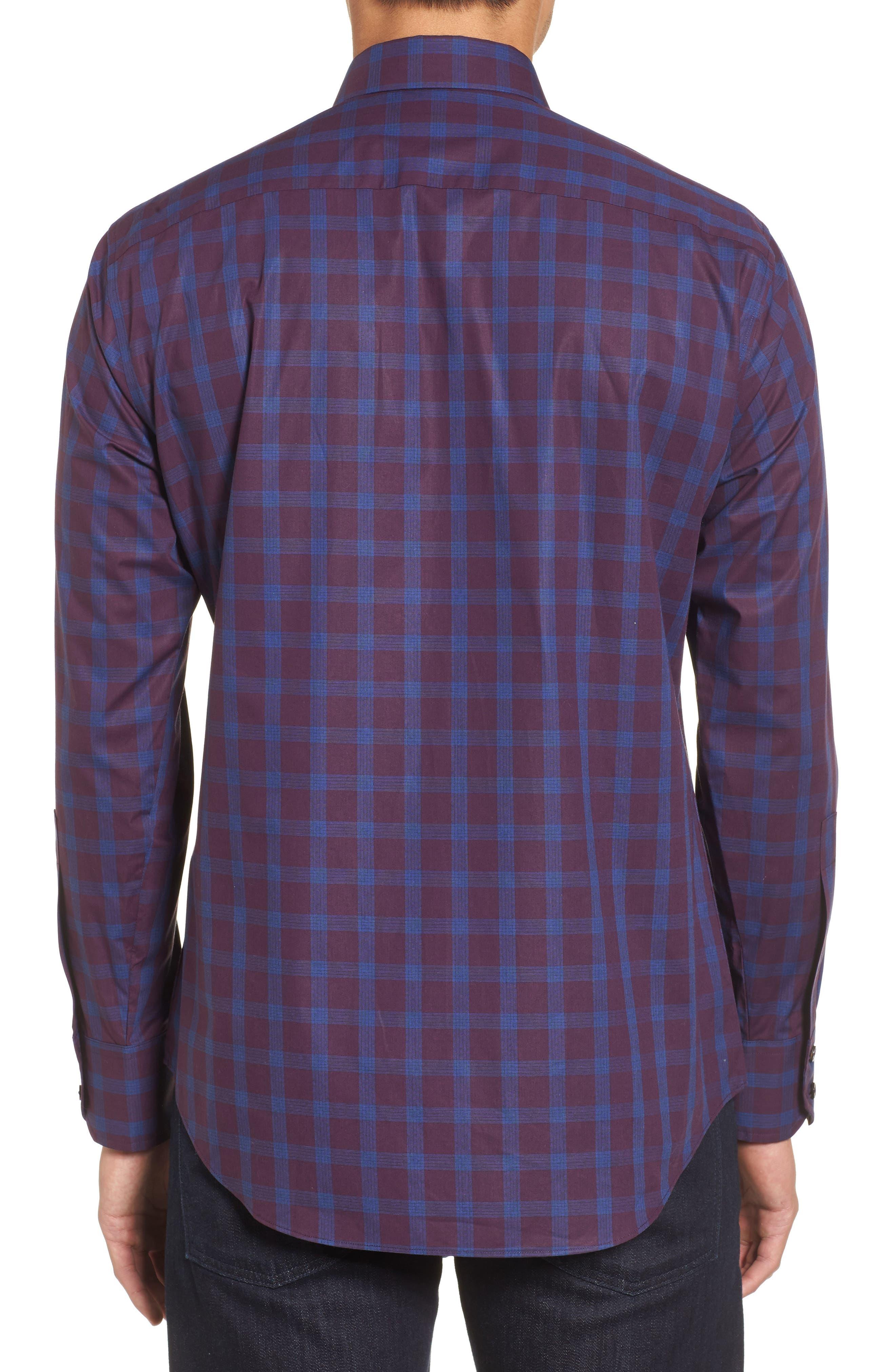 Raymond Check Sport Shirt,                             Alternate thumbnail 2, color,                             930