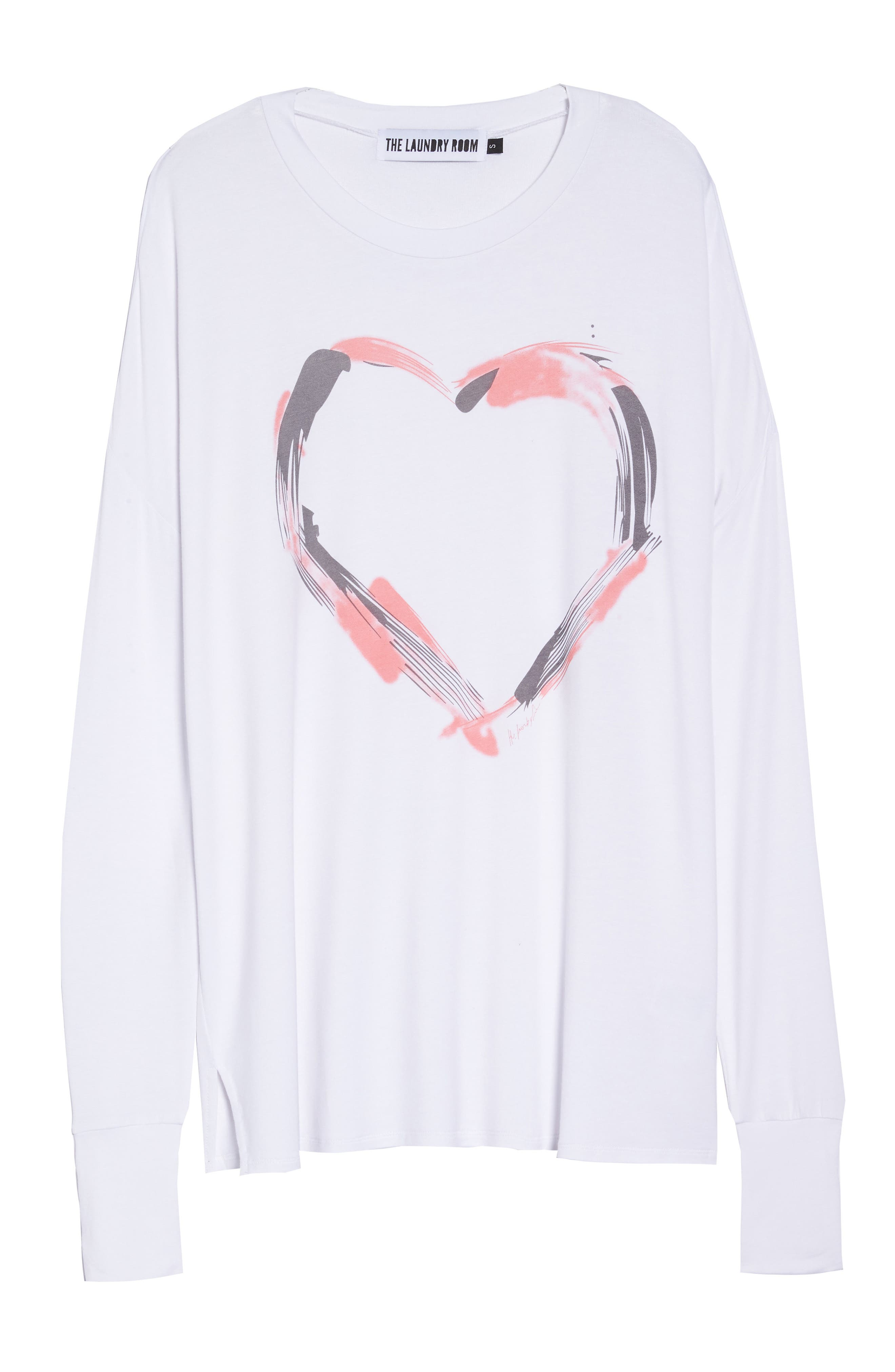 Heart Strokes Sleep Shirt,                             Alternate thumbnail 6, color,                             100