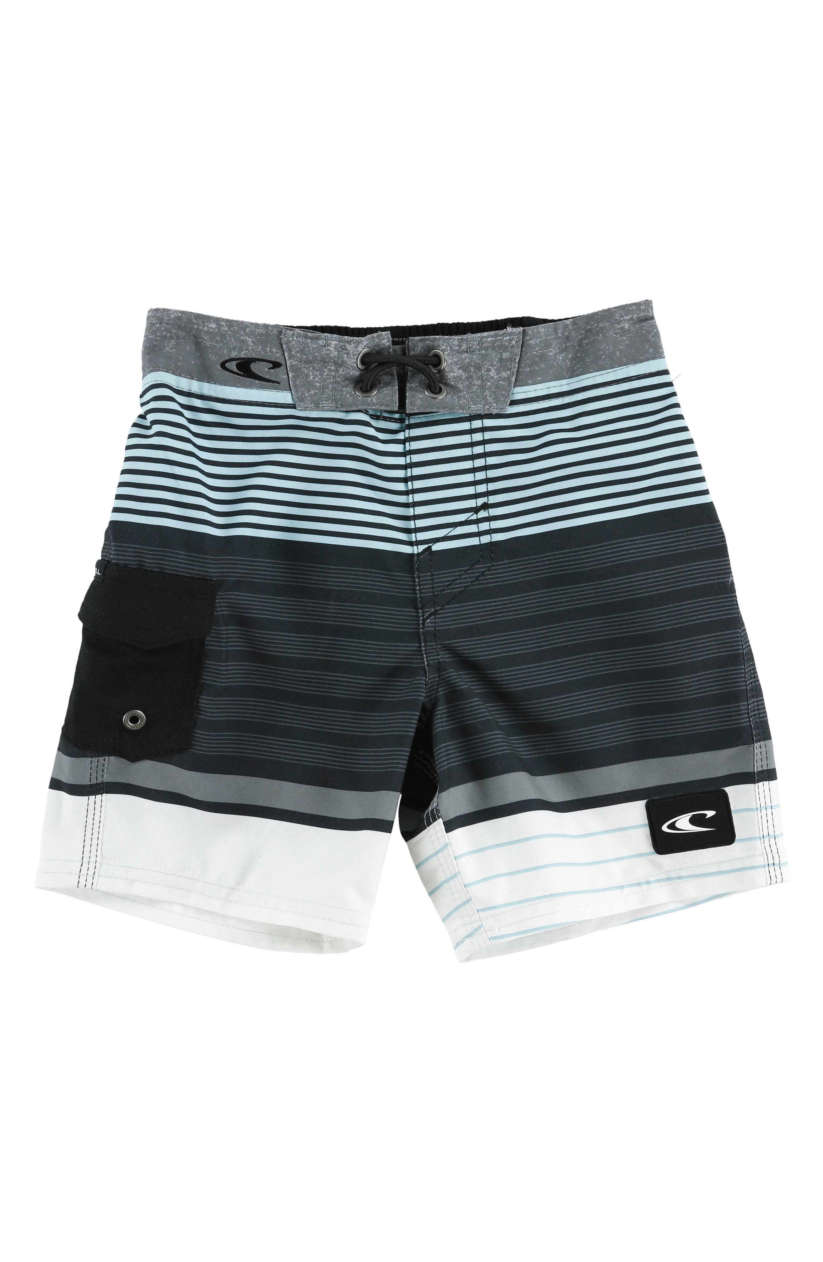 Lennox Stripe Board Shorts,                         Main,                         color, 020