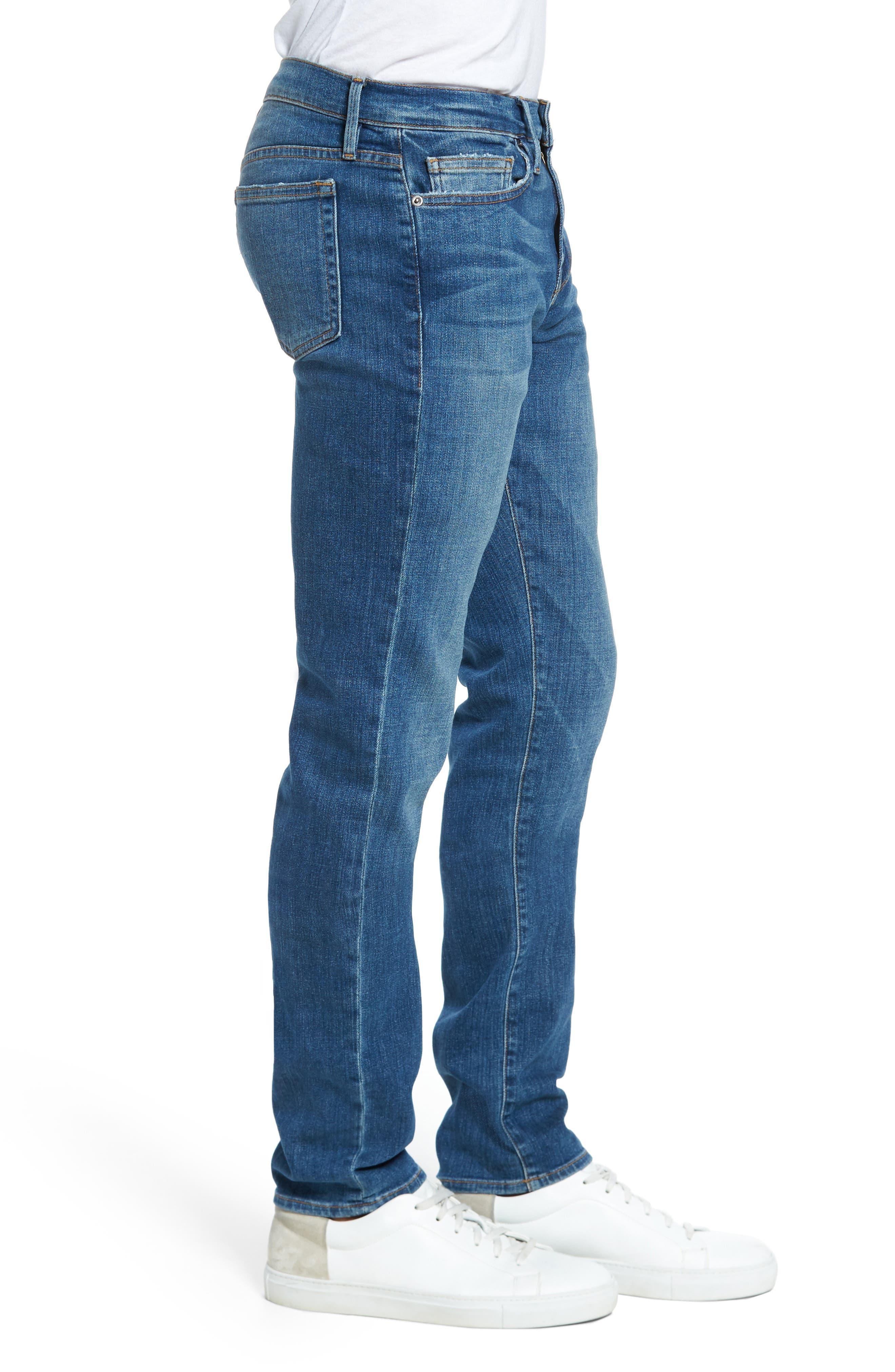 L'Homme Slim Fit Jeans,                             Alternate thumbnail 3, color,                             407