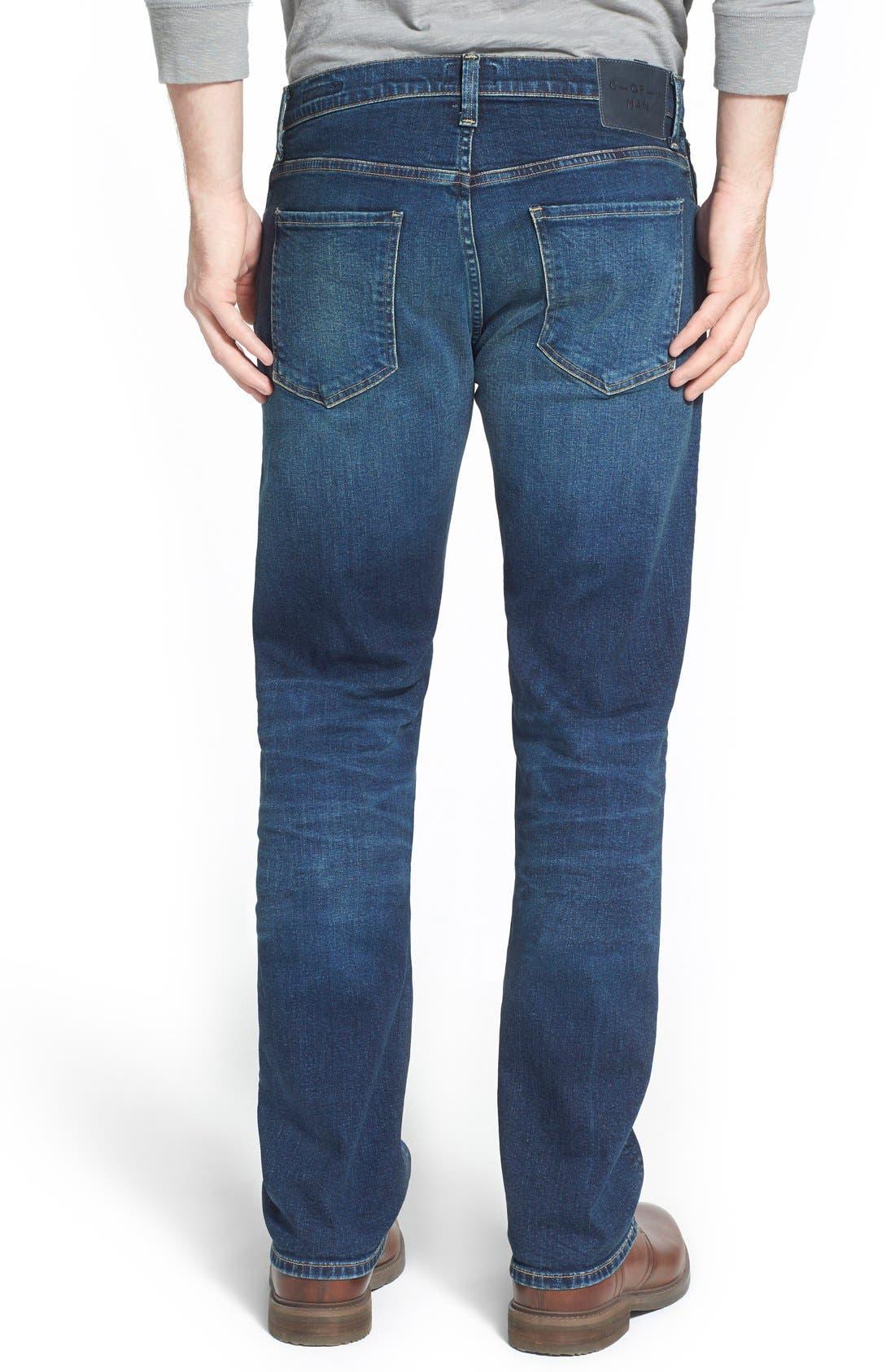 'Core' Slim Straight Leg Jeans,                             Alternate thumbnail 5, color,                             BRIGADE