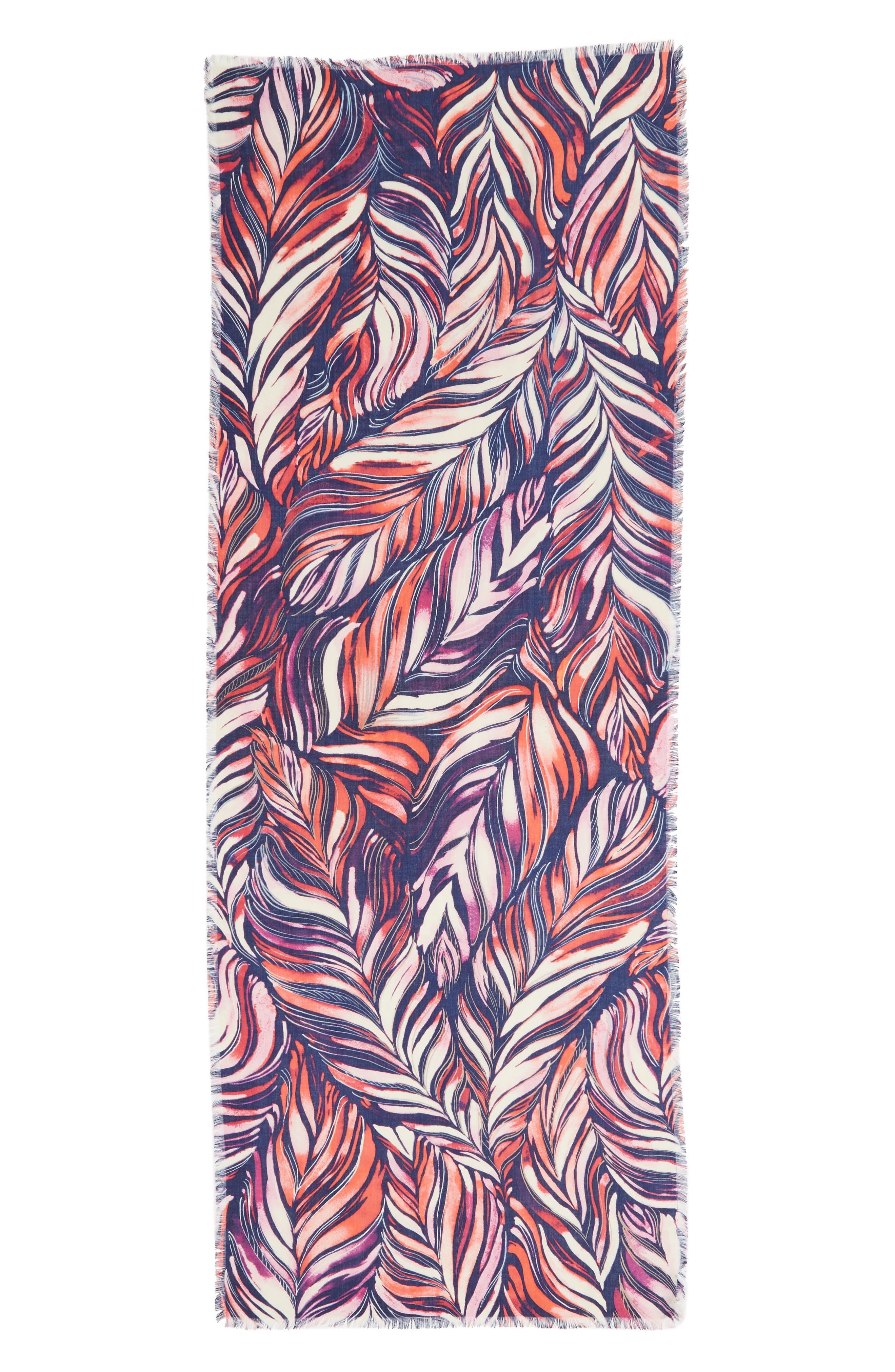 Eyelash Trim Print Cashmere & Silk Wrap,                             Alternate thumbnail 83, color,