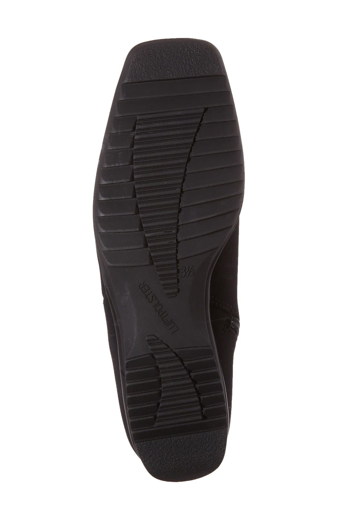 ARA,                             'Page' Waterproof Gore-Tex<sup>®</sup> Ankle Bootie,                             Alternate thumbnail 4, color,                             BLACK FABRIC