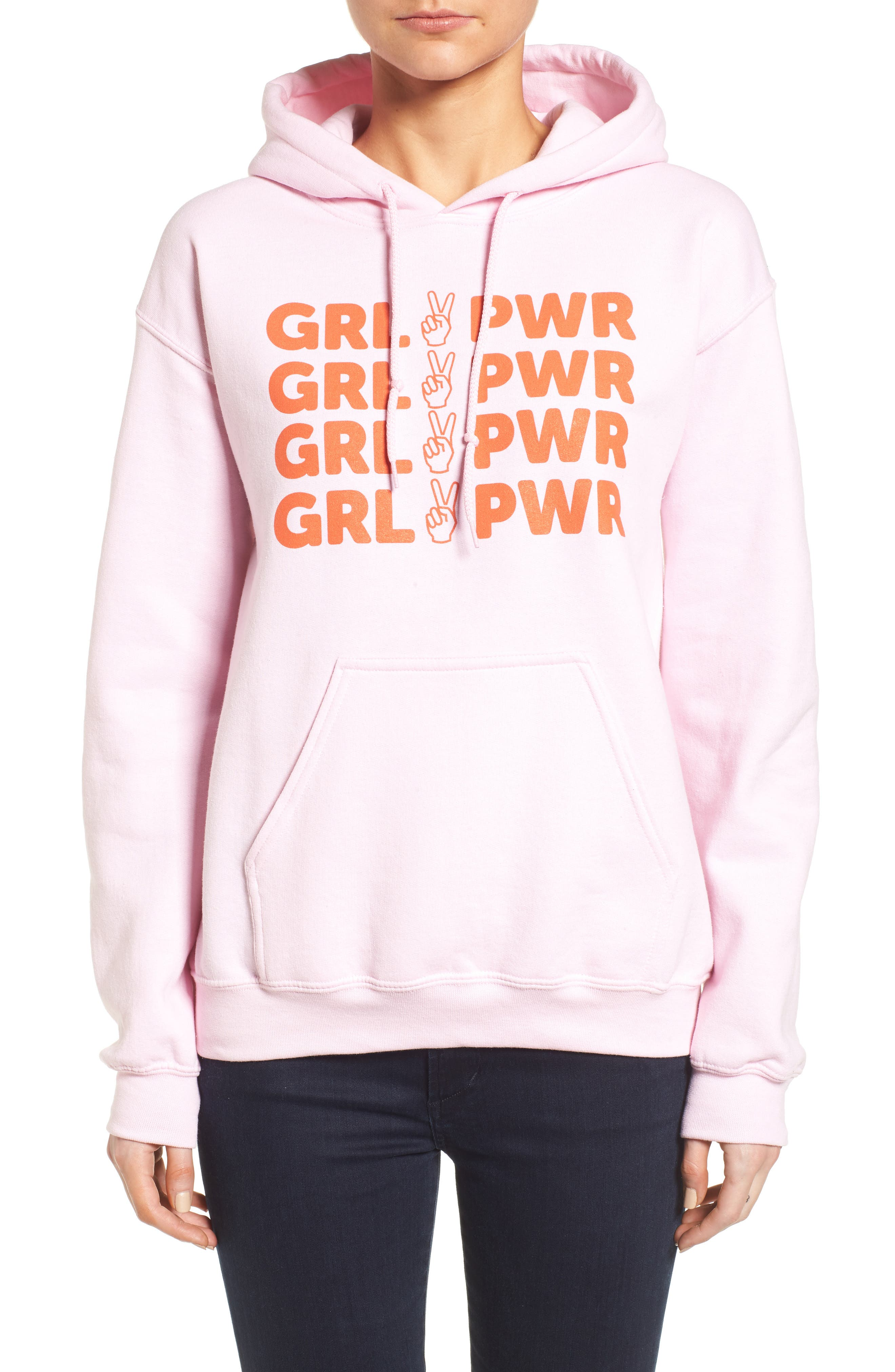Girl Power Hoodie,                             Main thumbnail 2, color,