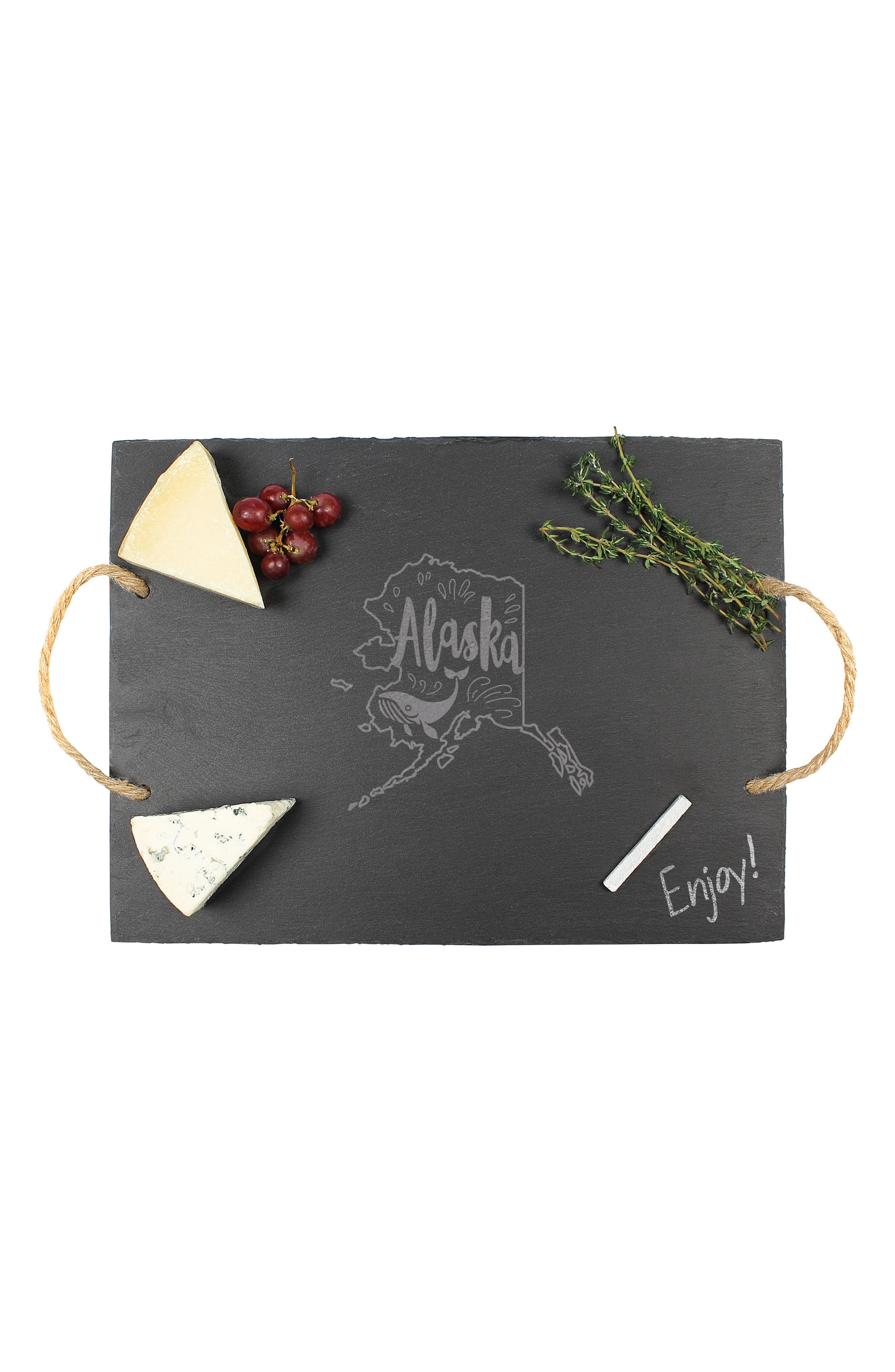 CATHY'S CONCEPTS State Slate Serving Tray, Main, color, ALASKA