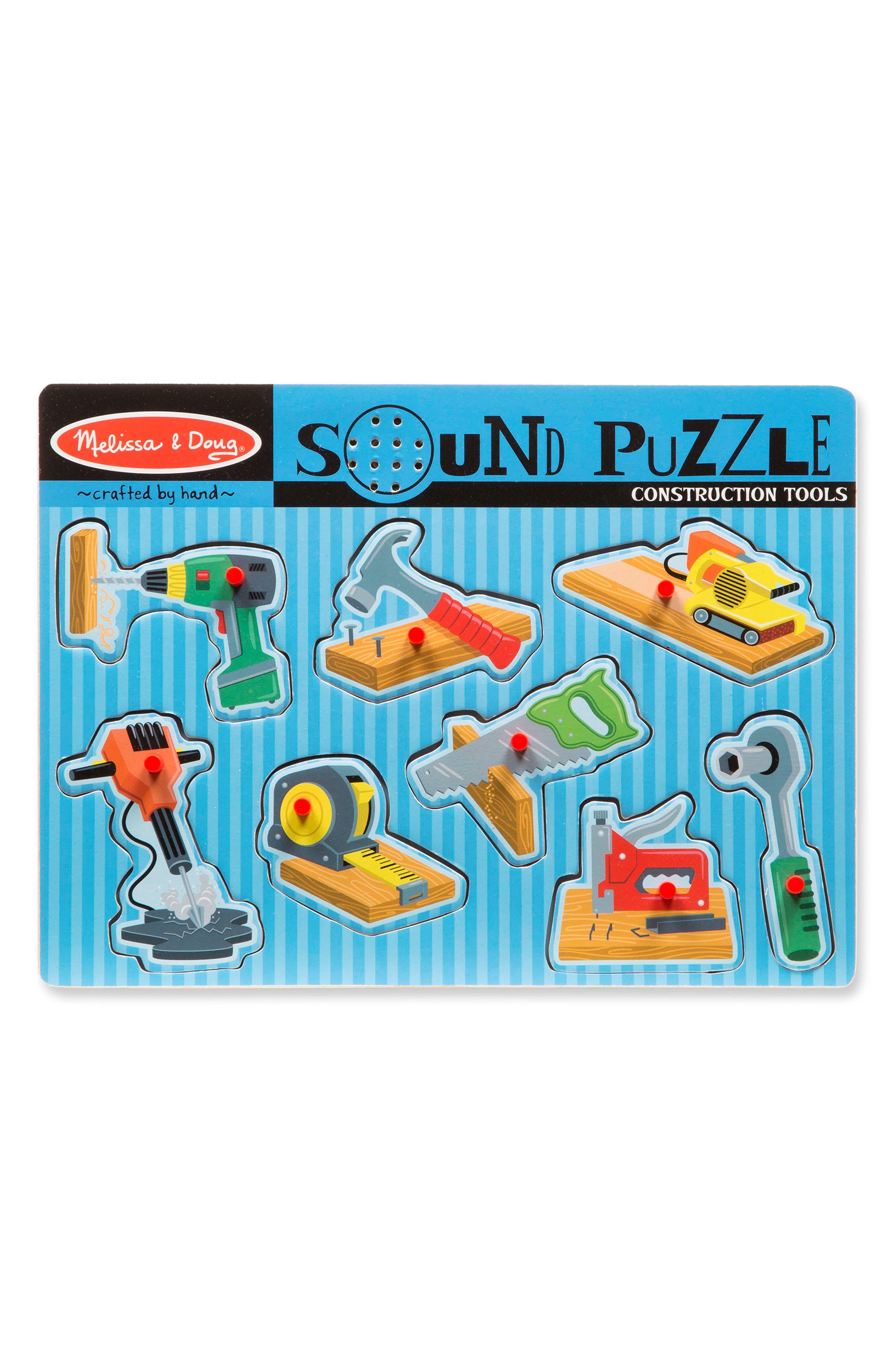 MELISSA & DOUG,                             Construction Tools Sound Puzzle,                             Alternate thumbnail 3, color,                             400