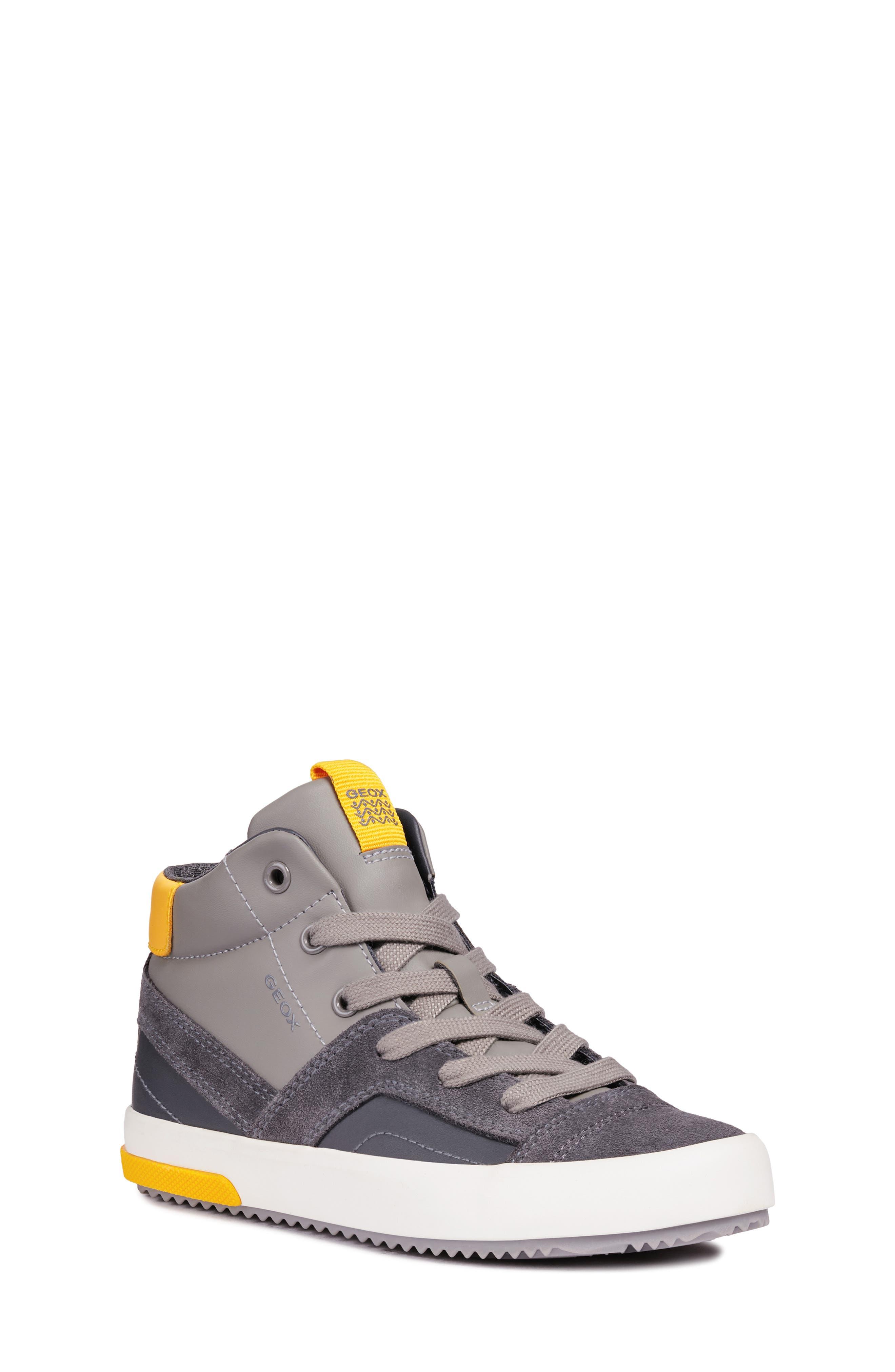 Alonisso 24 High Top Sneaker,                         Main,                         color, DARK GREY/YELLOW