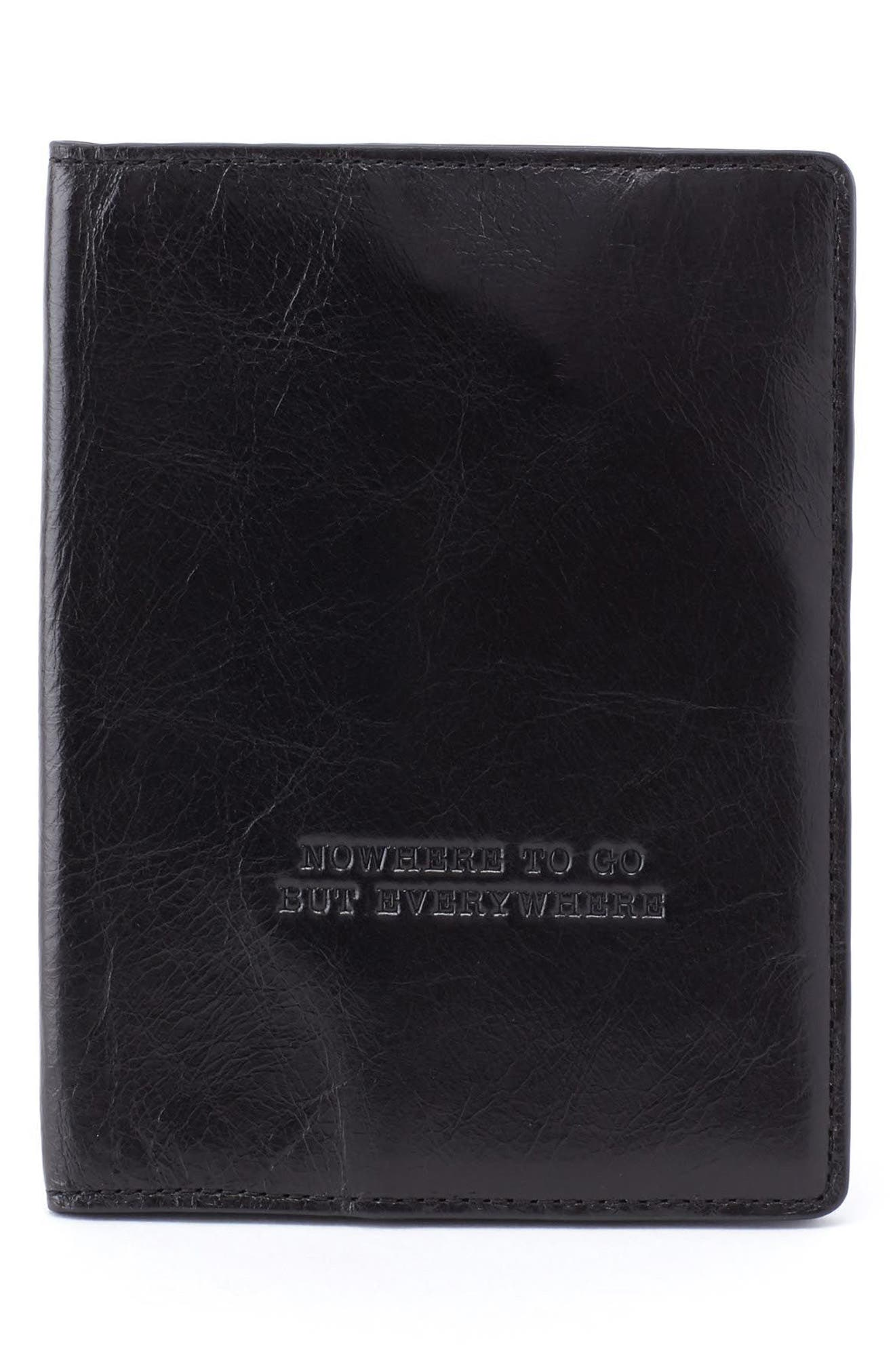 Quest Calfskin Leather Passport Wallet,                             Main thumbnail 1, color,                             001