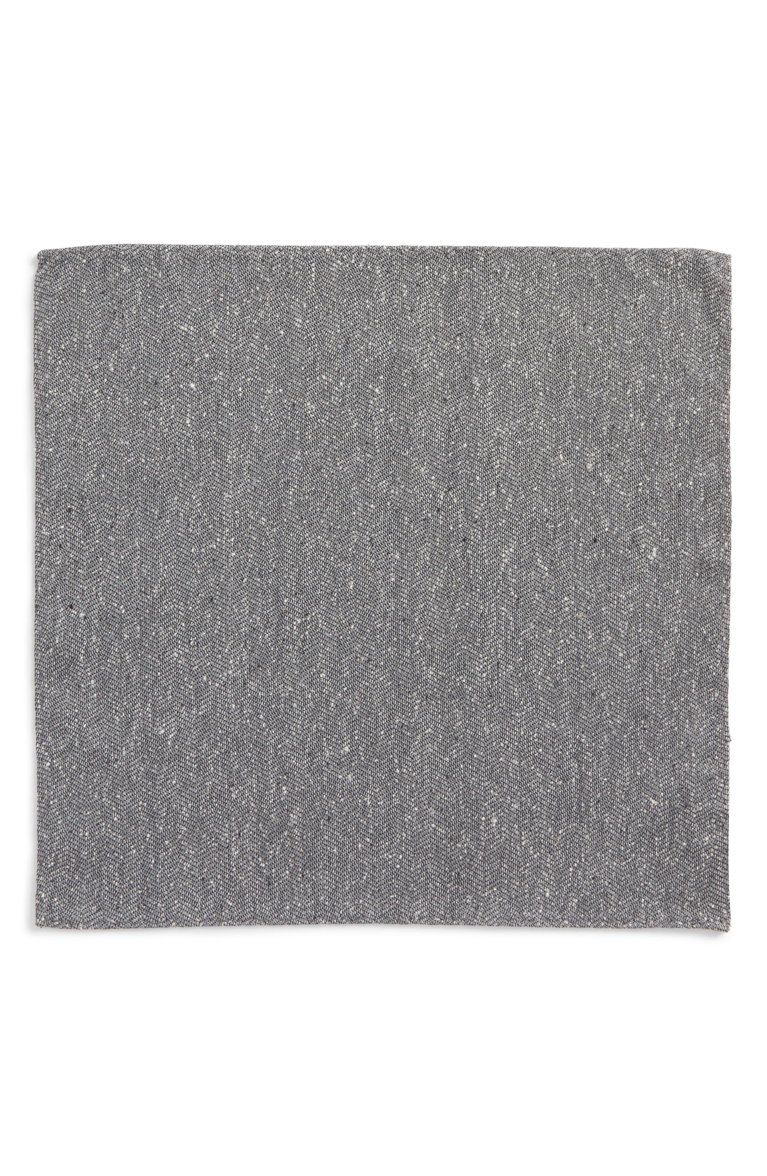 Threaded Zigzag Silk Pocket Square,                             Alternate thumbnail 4, color,