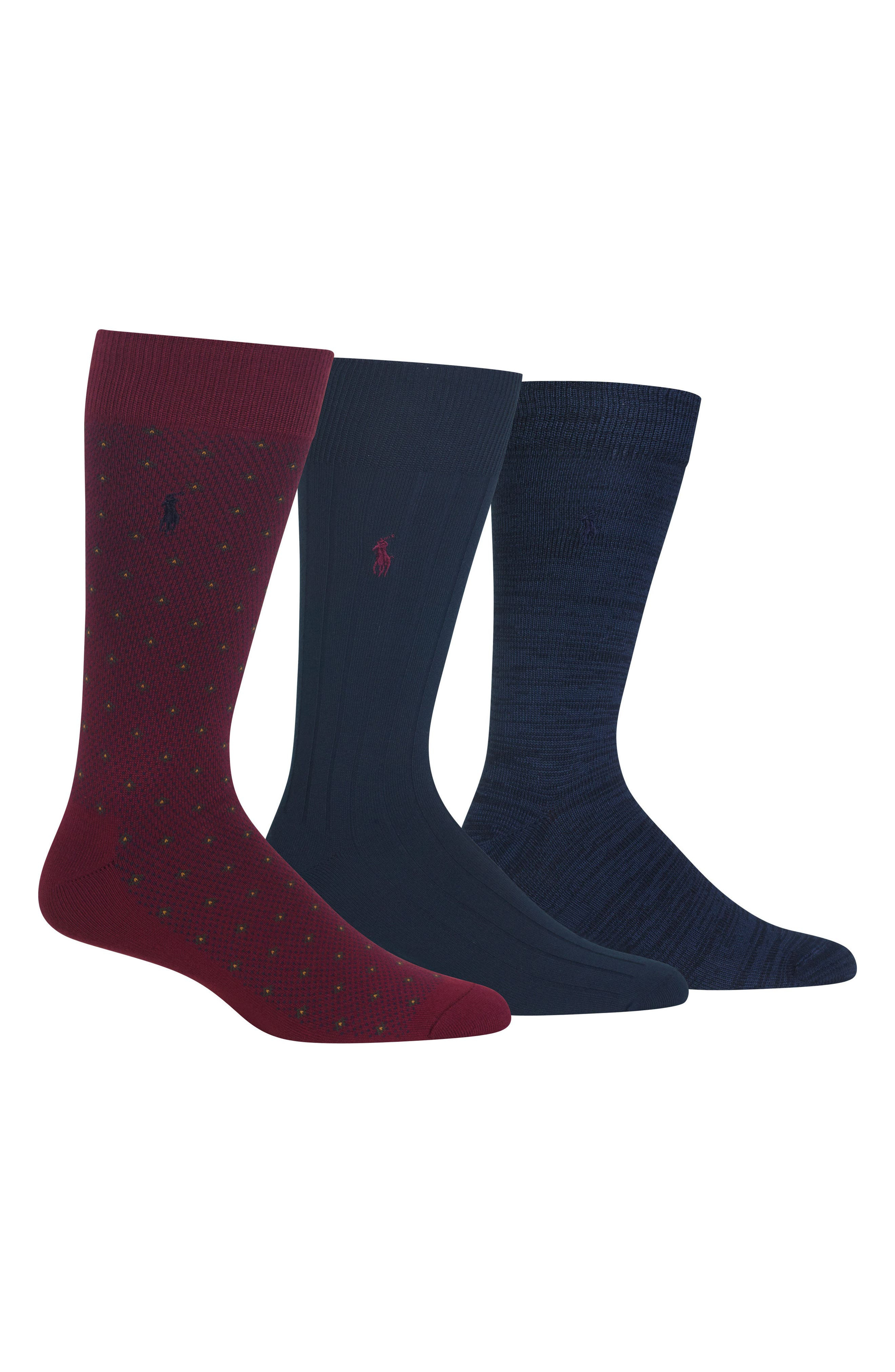 Supersoft Diamond Dot Assorted 3-Pack Socks,                             Main thumbnail 1, color,                             937