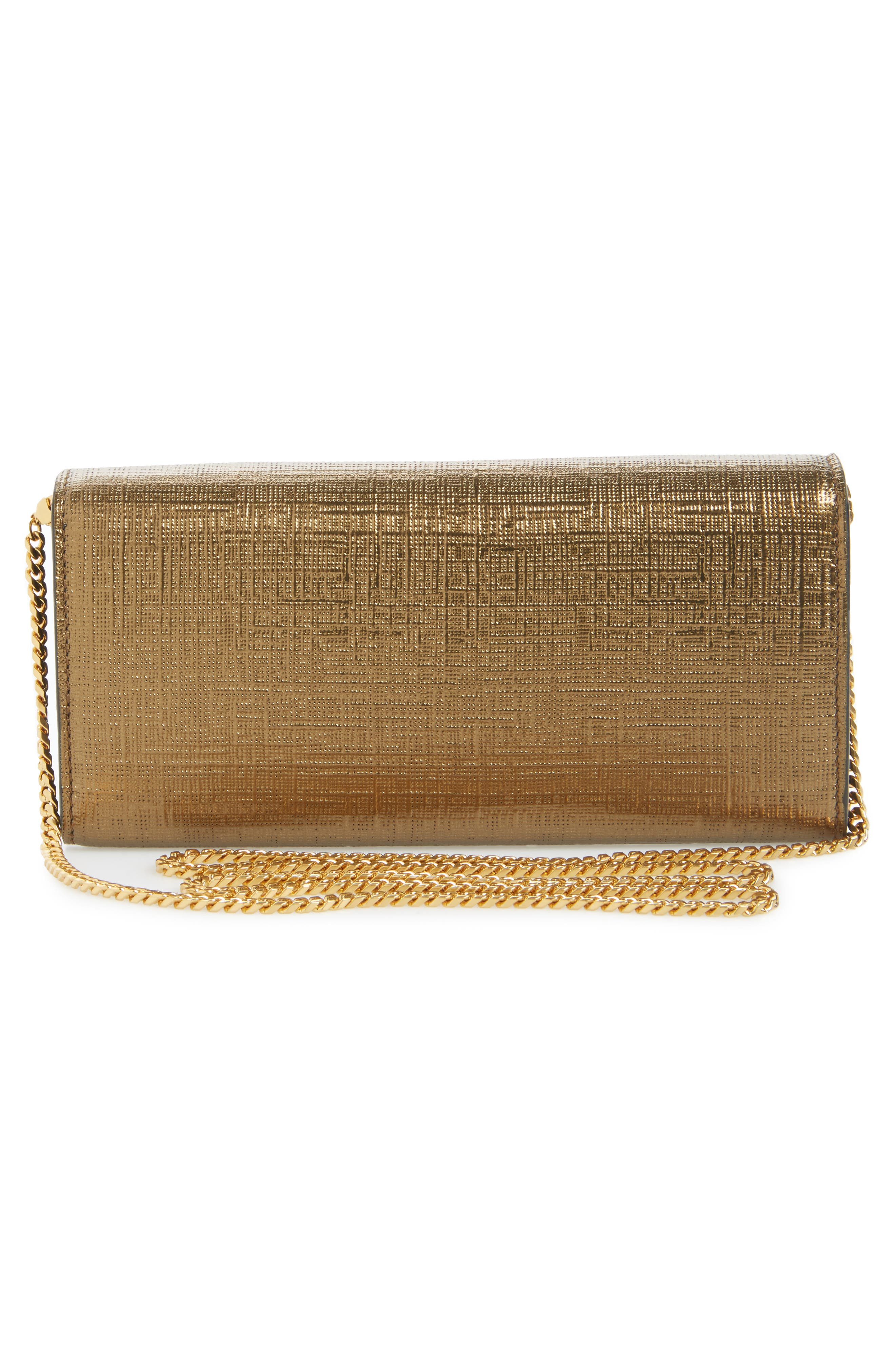 Calfskin Leather Wallet on a Chain,                             Alternate thumbnail 3, color,