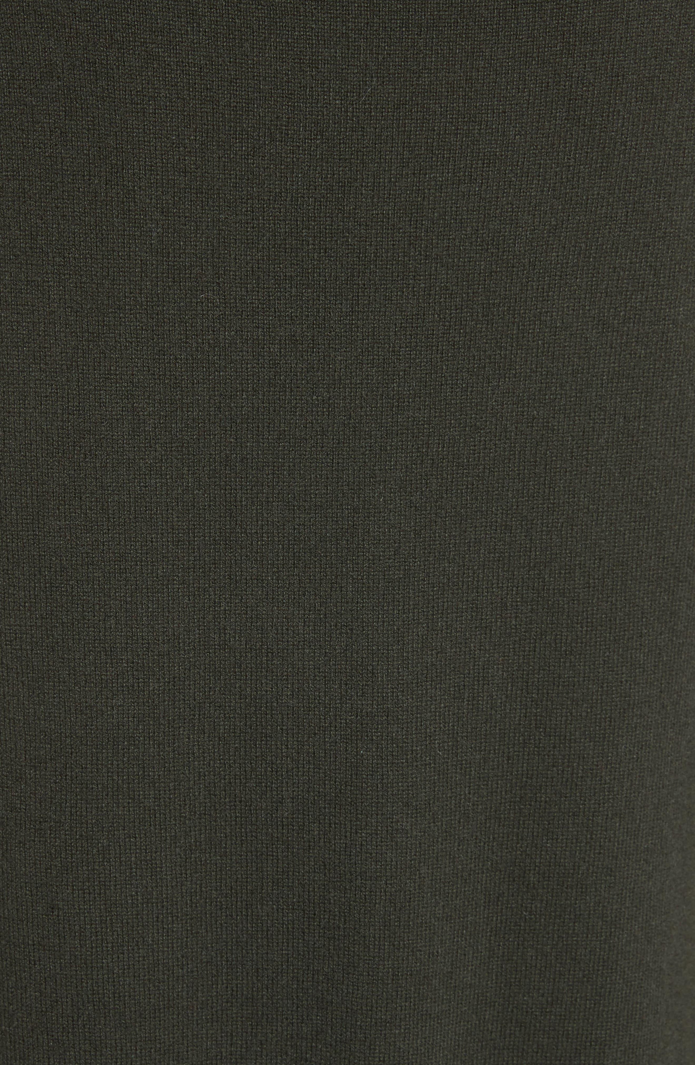 Cashmere Turtleneck Sweater Dress,                             Alternate thumbnail 5, color,                             300