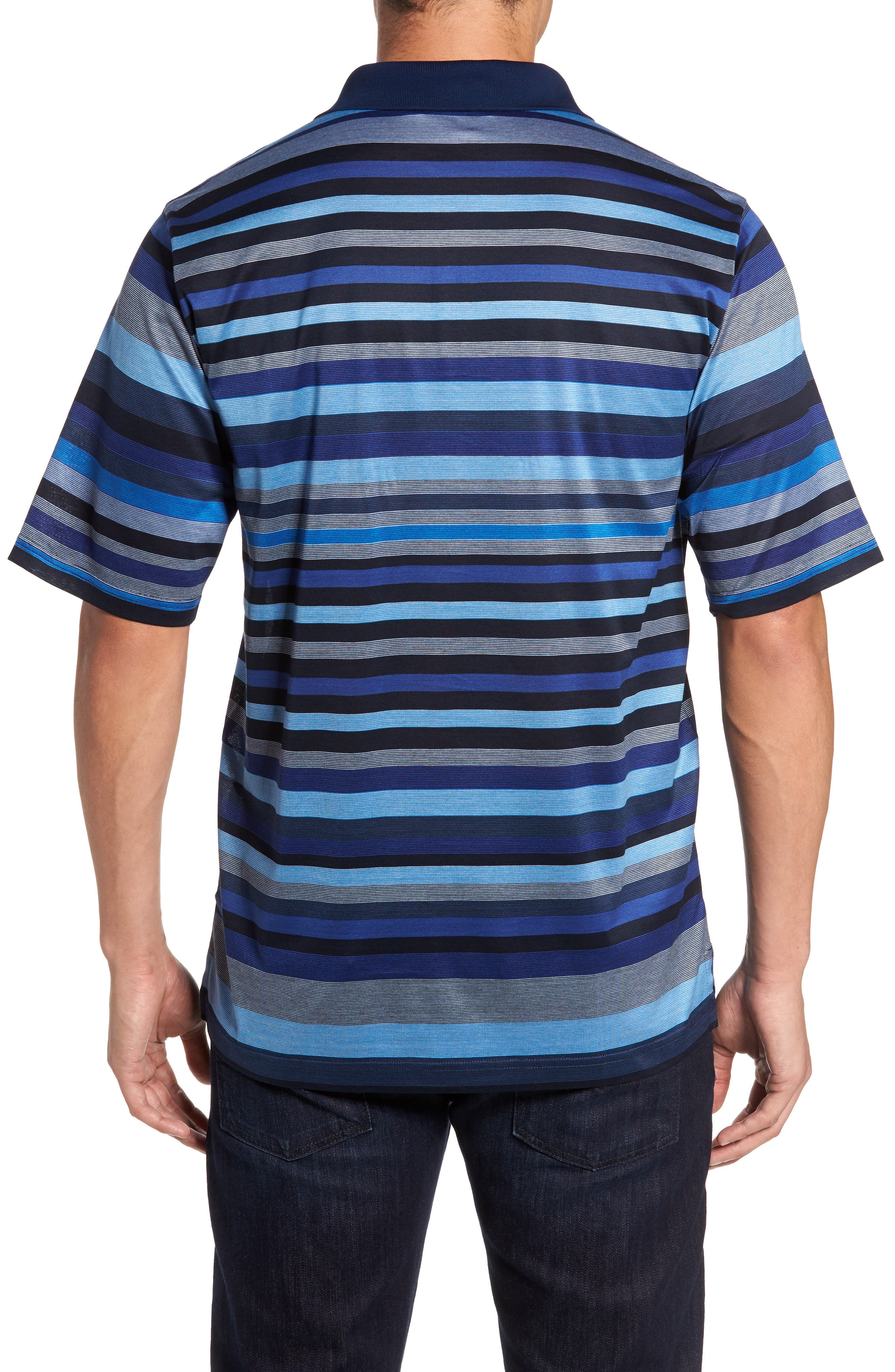 Classic Fit Stripe Jersey Polo,                             Alternate thumbnail 2, color,                             411