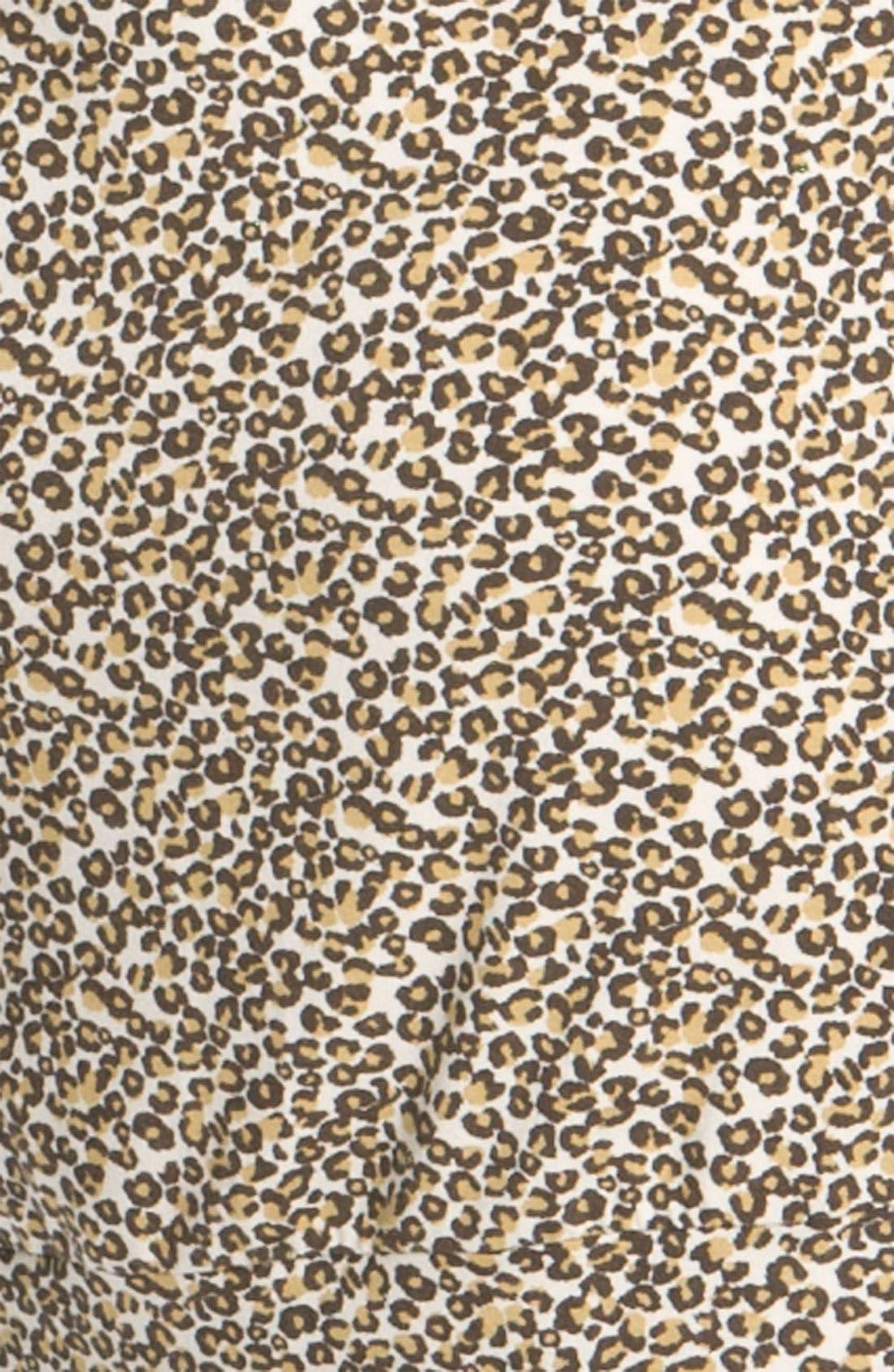 Leopard Print Turtleneck Dress,                             Alternate thumbnail 2, color,                             020