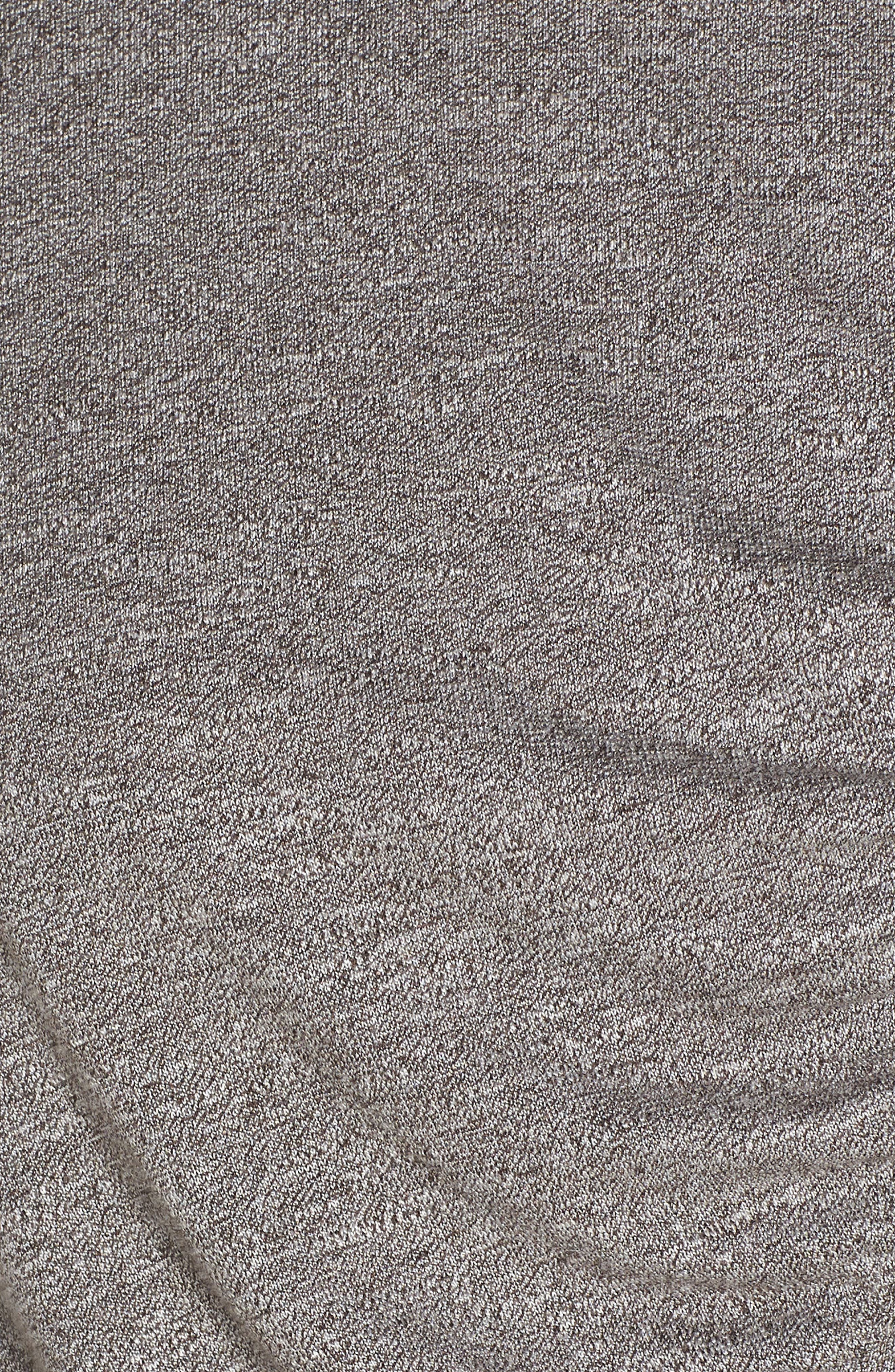 So Graceful Ruched Tee,                             Alternate thumbnail 6, color,                             GREY DARK HEATHER