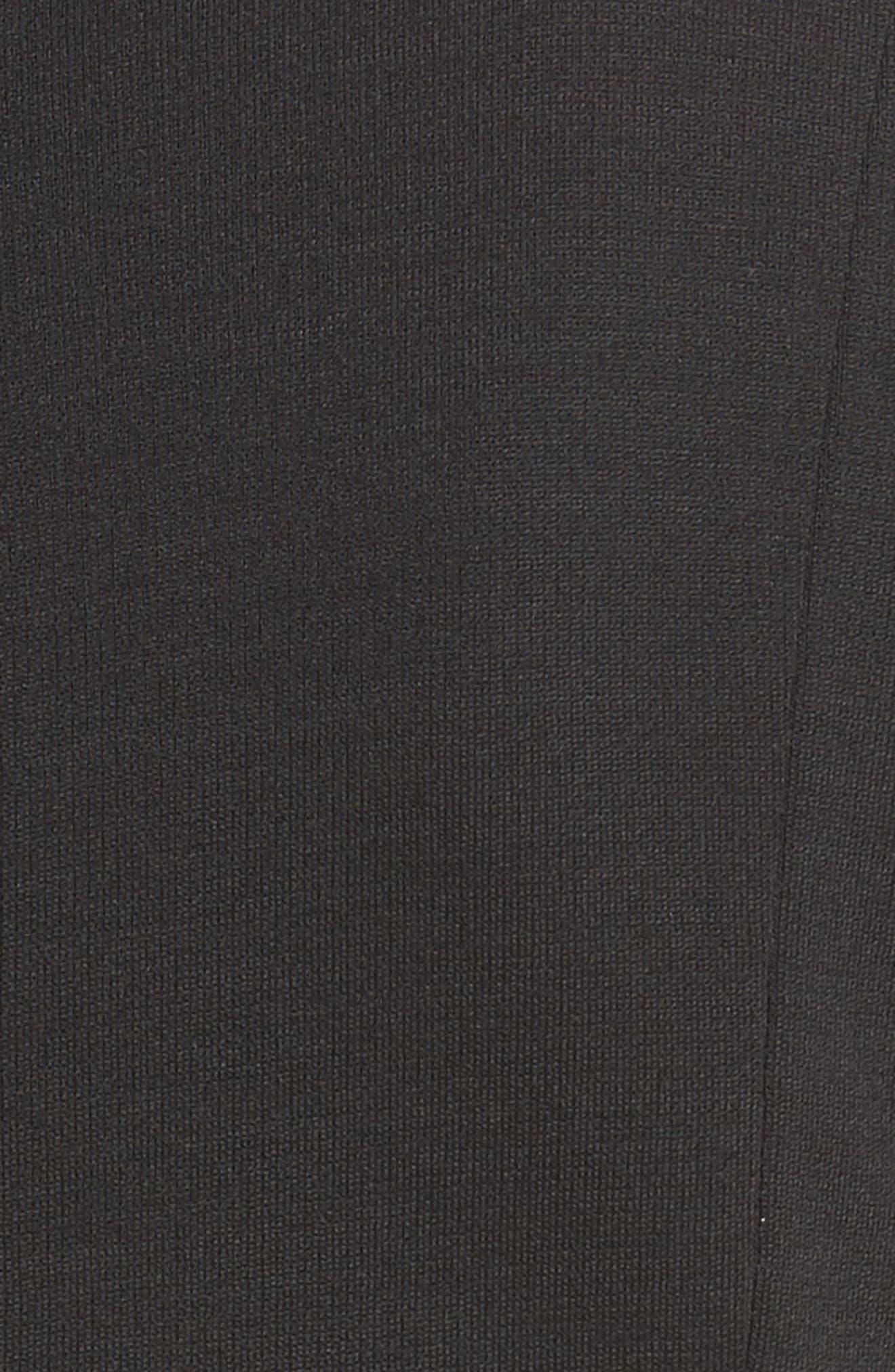 Lace-Up Milano Knit Dress,                             Alternate thumbnail 5, color,                             001