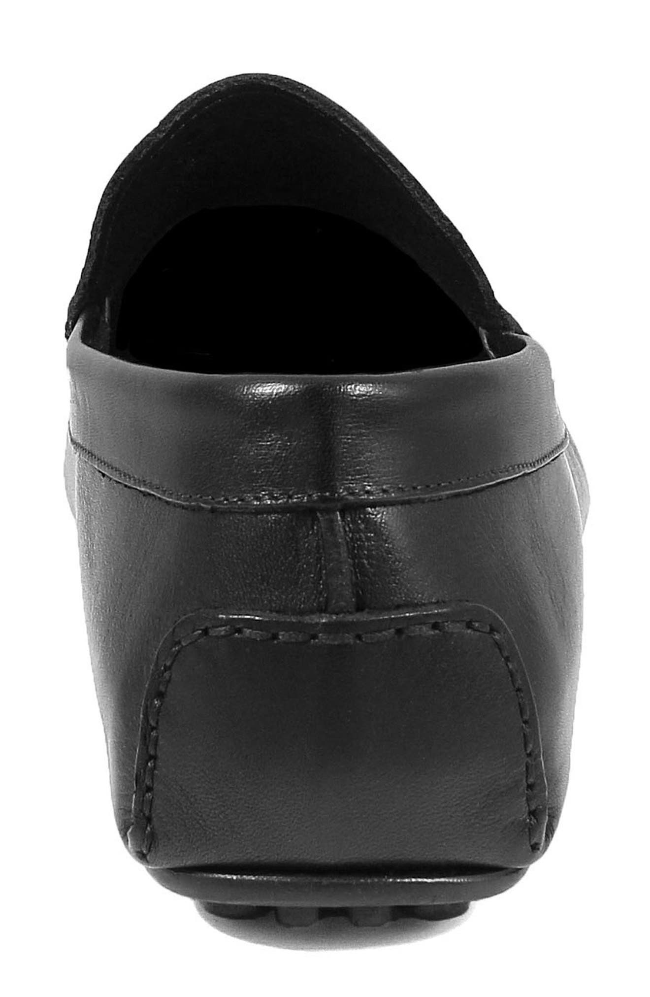 Navono Driving Moccasin,                             Alternate thumbnail 7, color,                             BLACK LEATHER