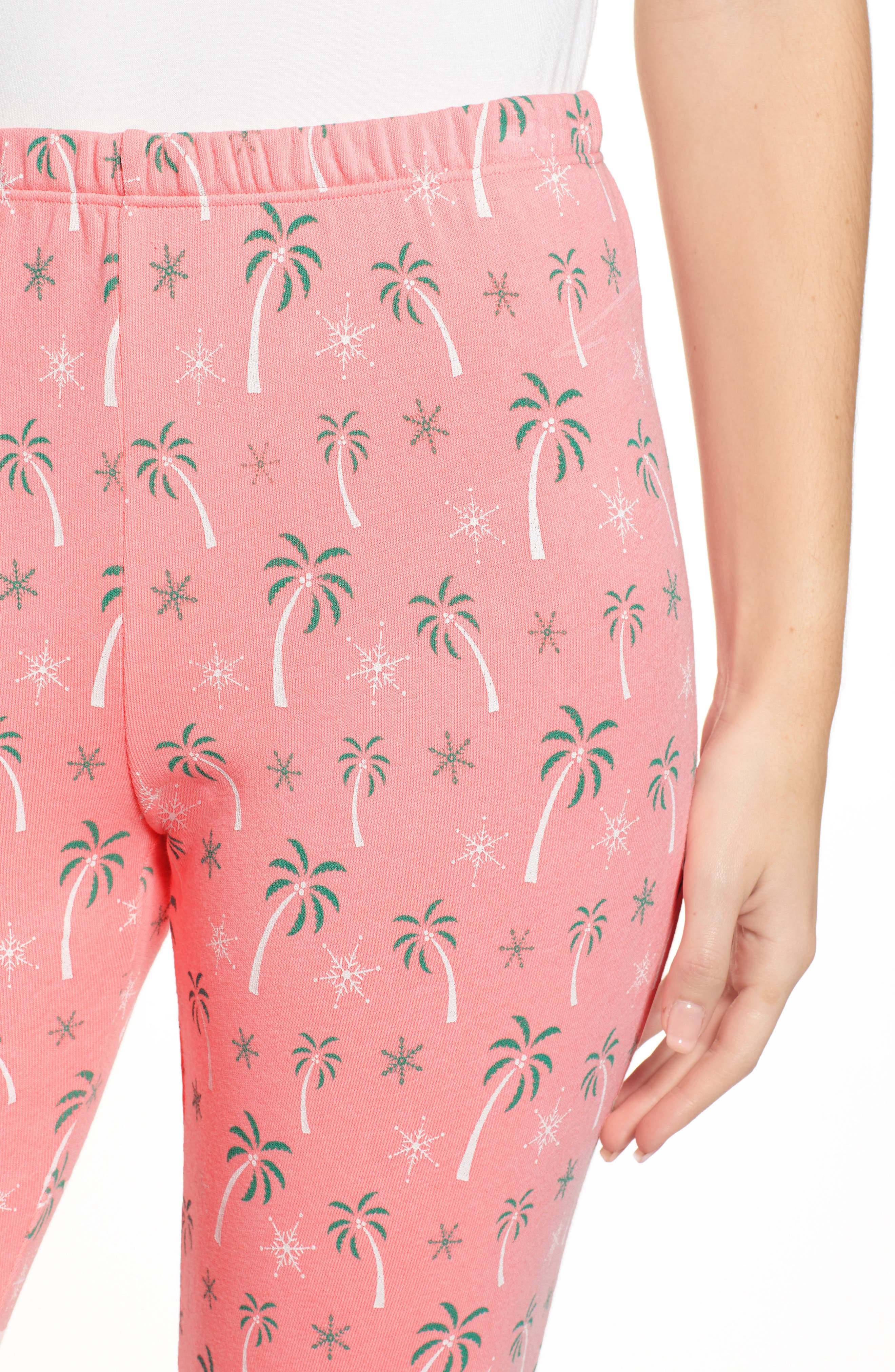 Tropical Christmas Sweatpants,                             Alternate thumbnail 4, color,                             NEON SIGN