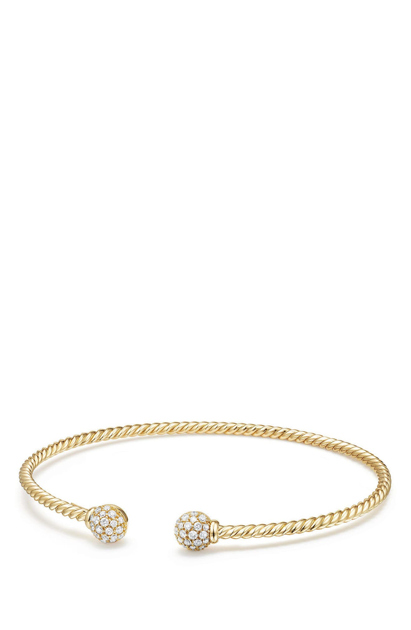 DAVID YURMAN,                             Solari Bead Bracelet with Diamonds in 18K Gold,                             Main thumbnail 1, color,                             YELLOW GOLD/ DIAMOND