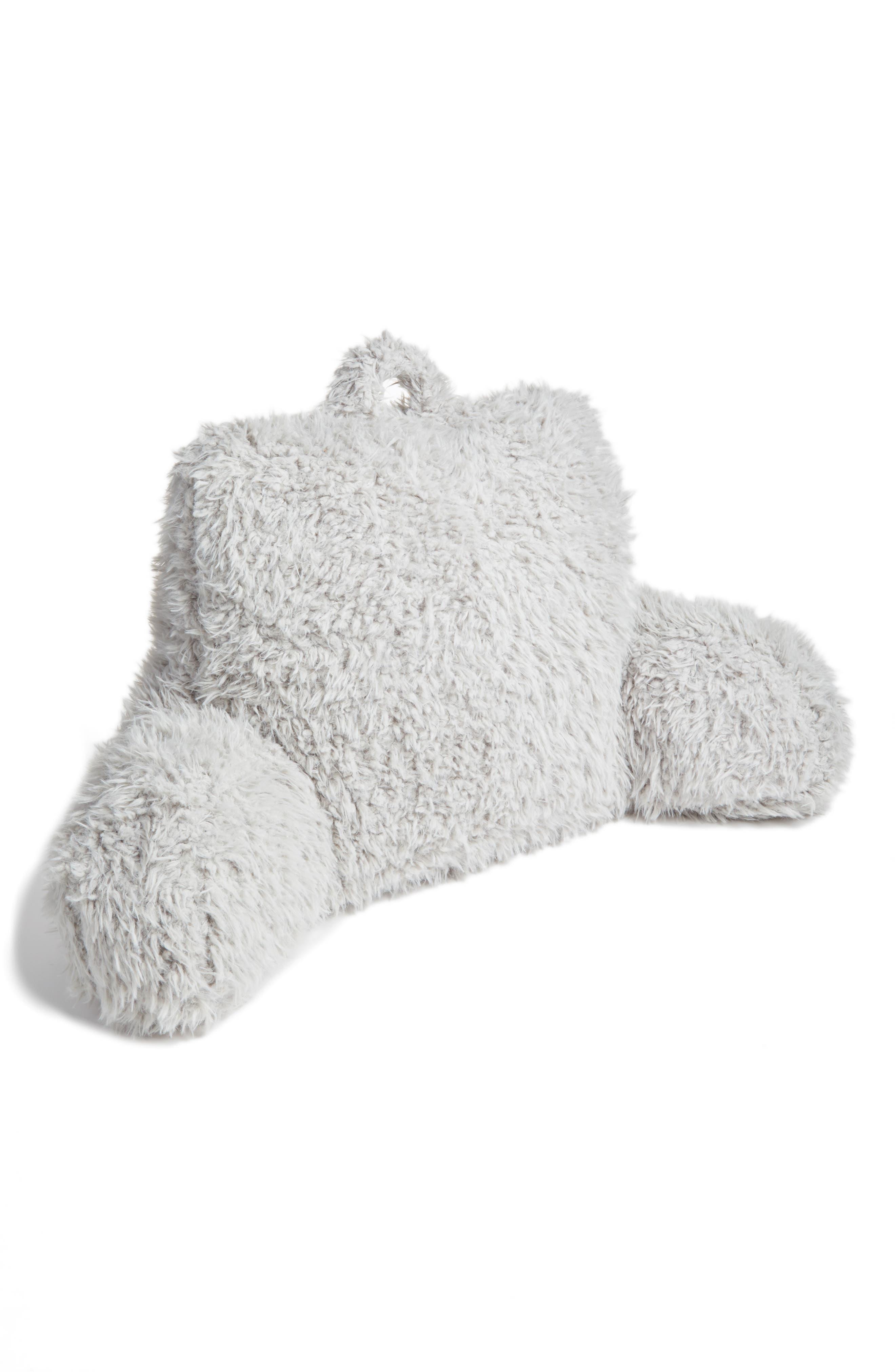 Shaggy Faux Fur Backrest Pillow,                             Main thumbnail 1, color,                             020