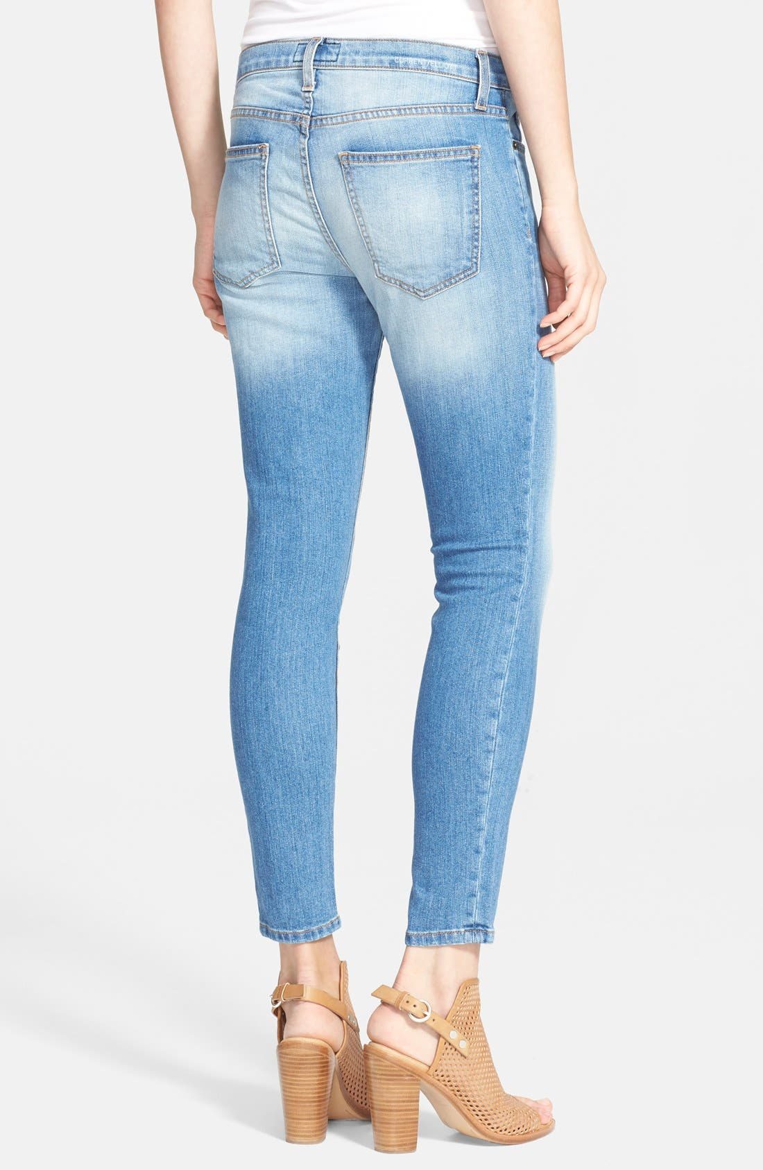 'The Stiletto' Destroyed Skinny Jeans,                             Alternate thumbnail 17, color,
