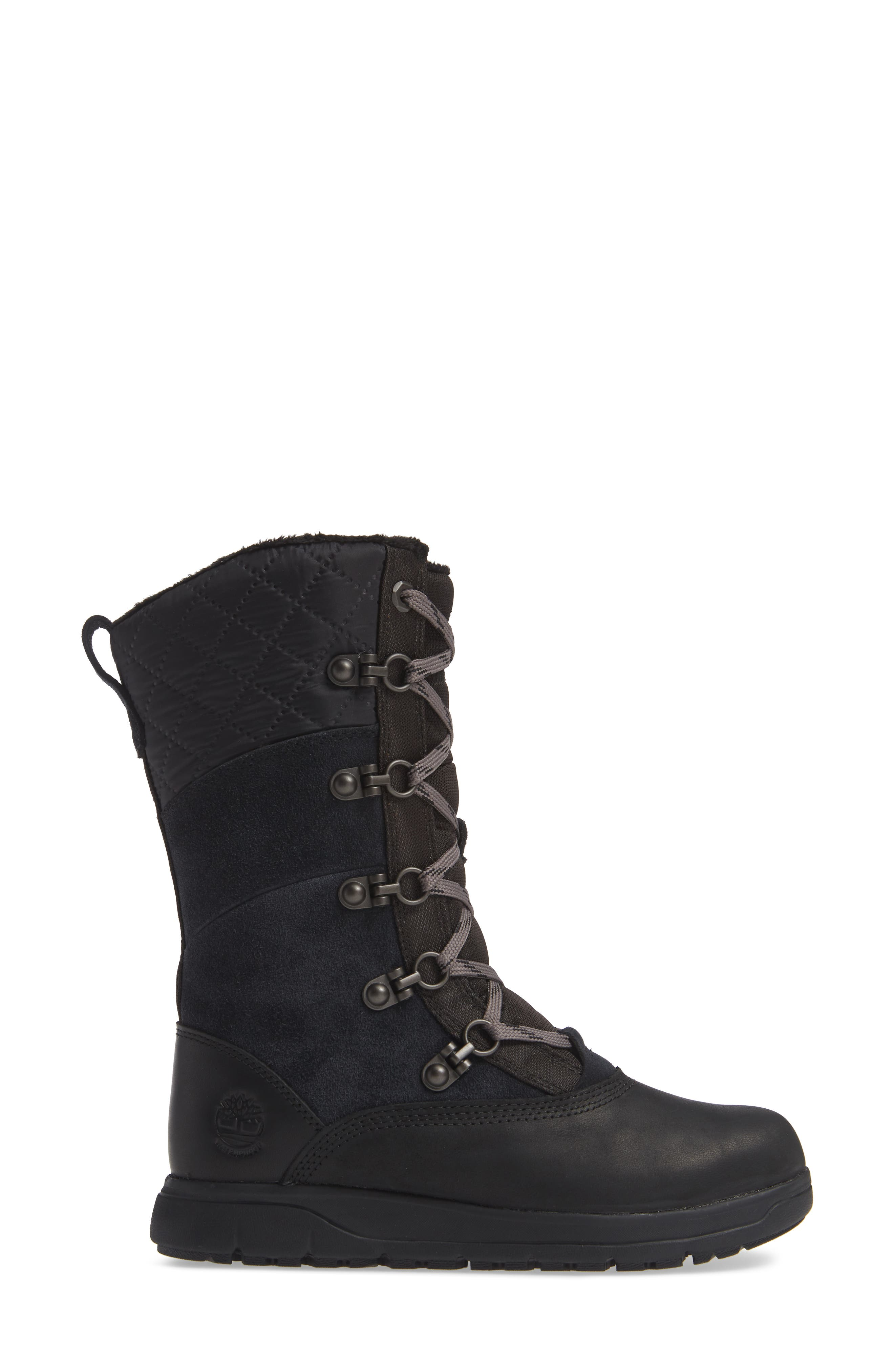 Haven Point Waterproof Boot,                             Alternate thumbnail 3, color,                             001