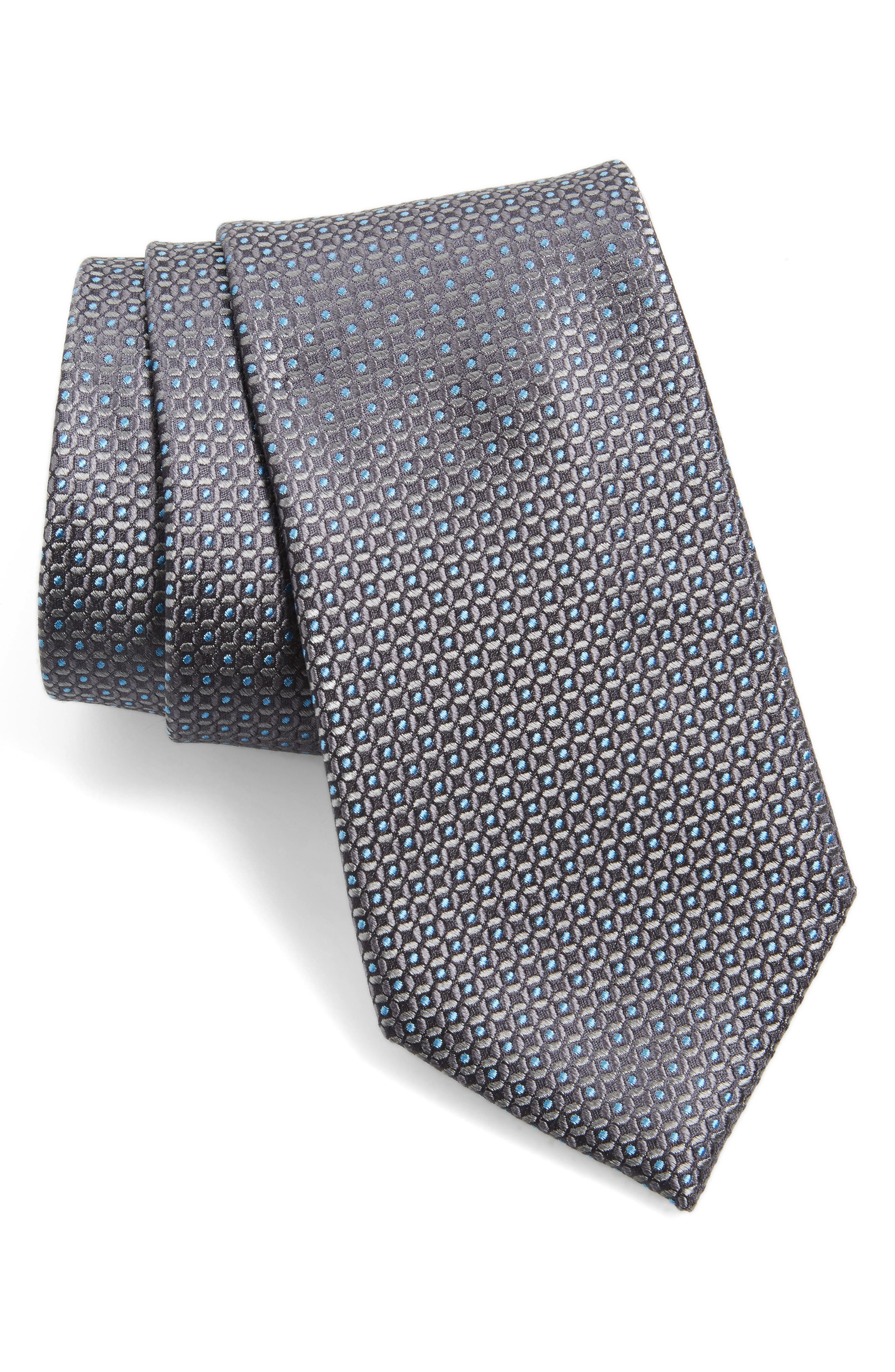 Check Silk Tie,                             Main thumbnail 1, color,