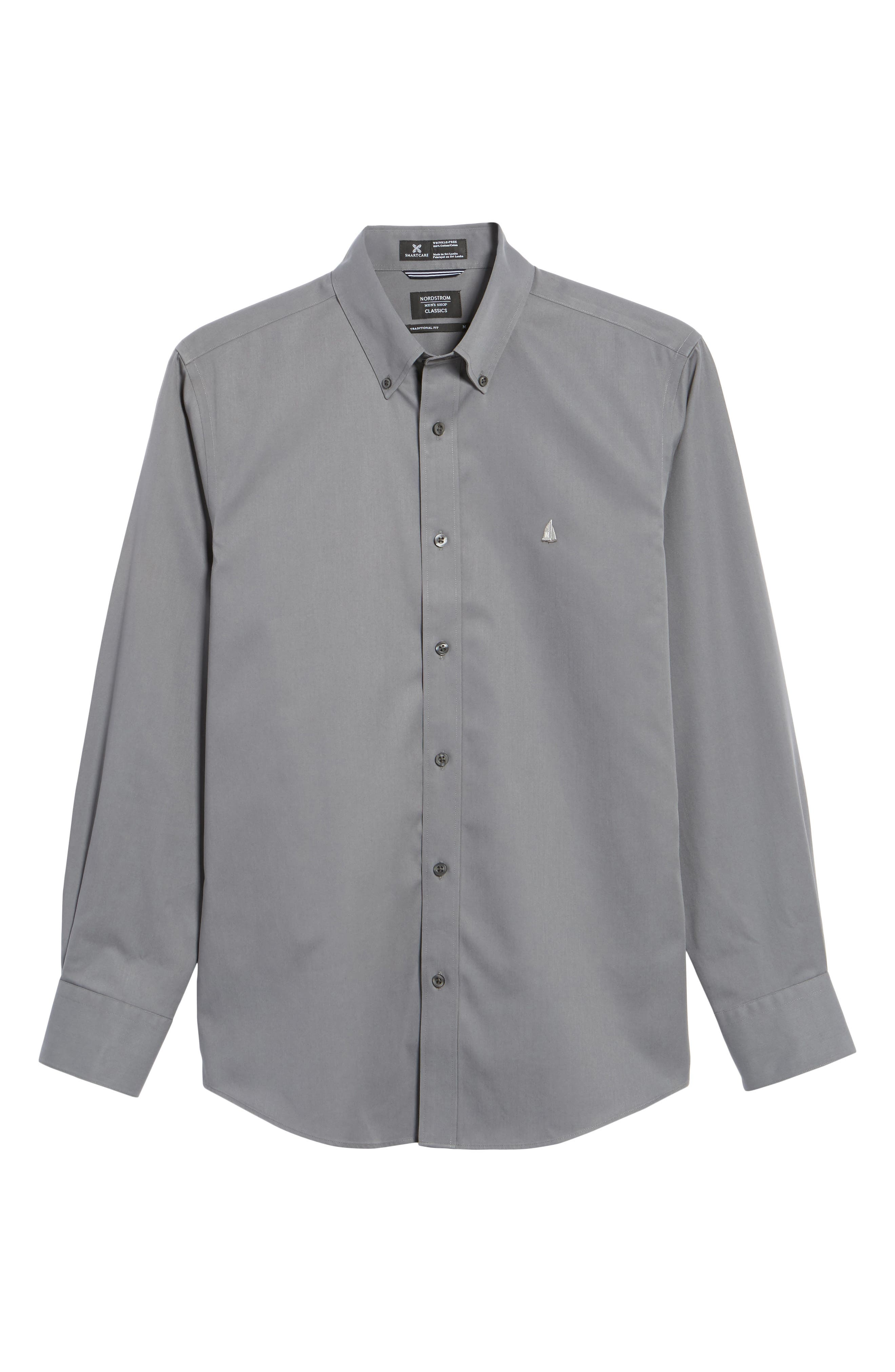 Smartcare<sup>™</sup> Traditional Fit Twill Boat Shirt,                             Alternate thumbnail 174, color,