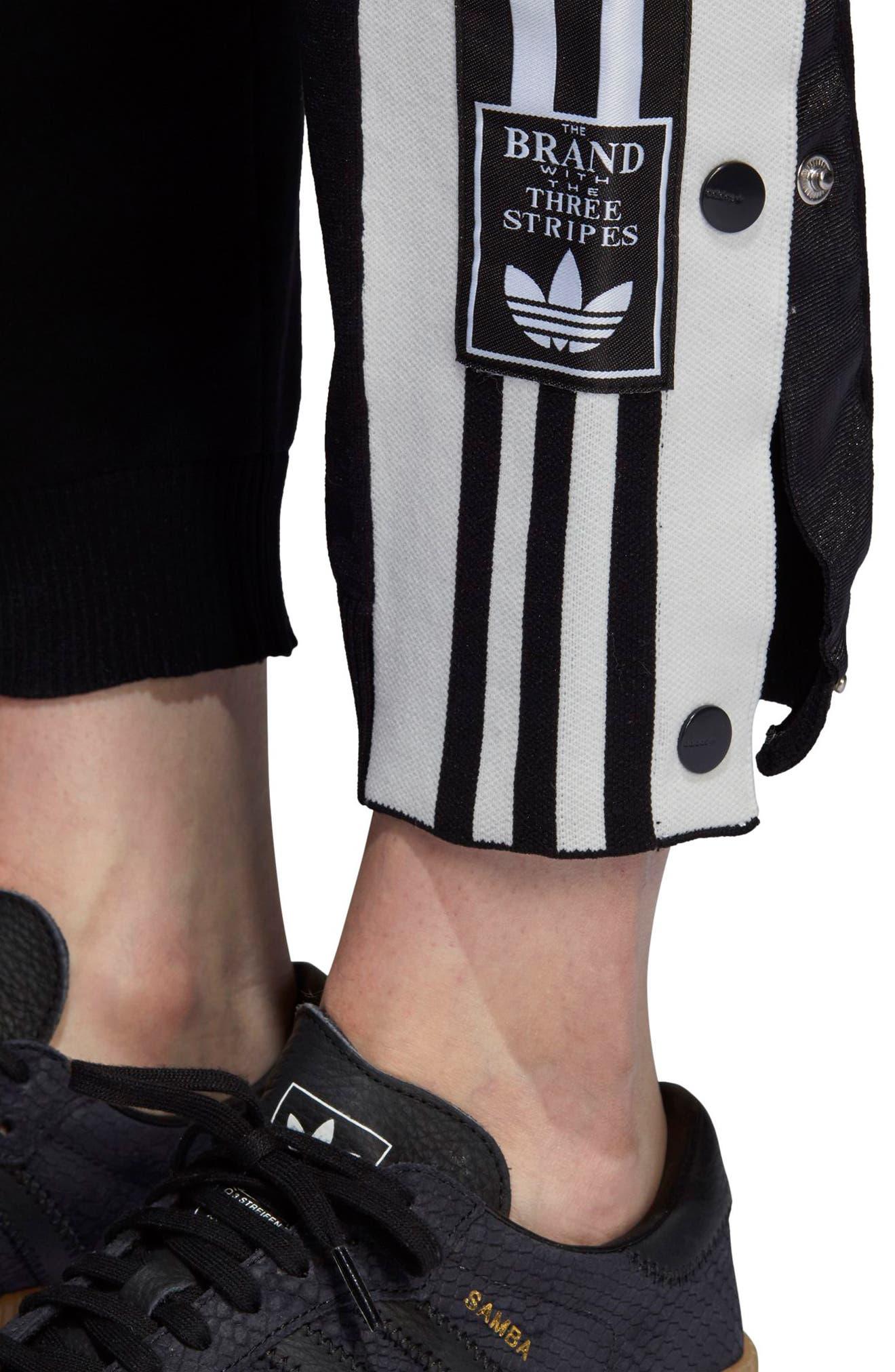 Adibreak Track Pants,                             Alternate thumbnail 4, color,                             BLACK