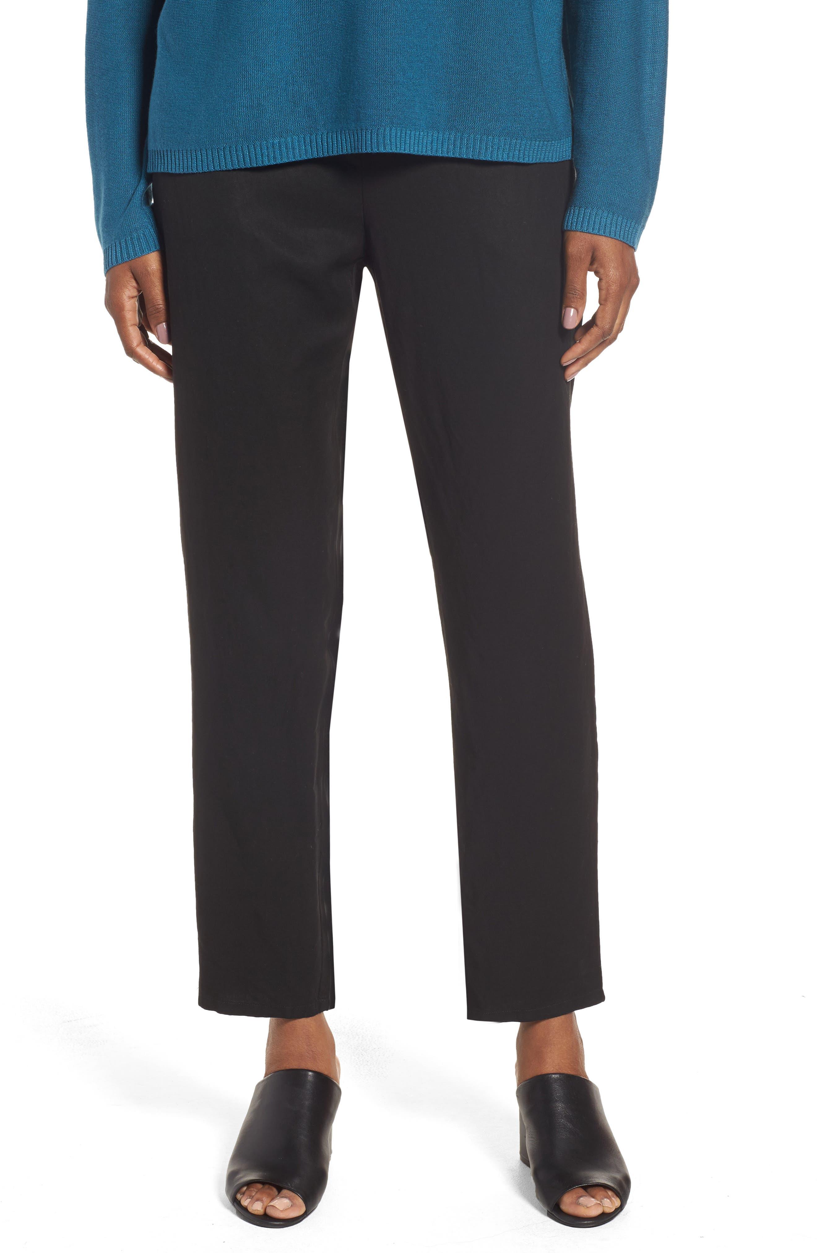Tencel<sup>®</sup> & Linen Ankle Pants,                         Main,                         color,