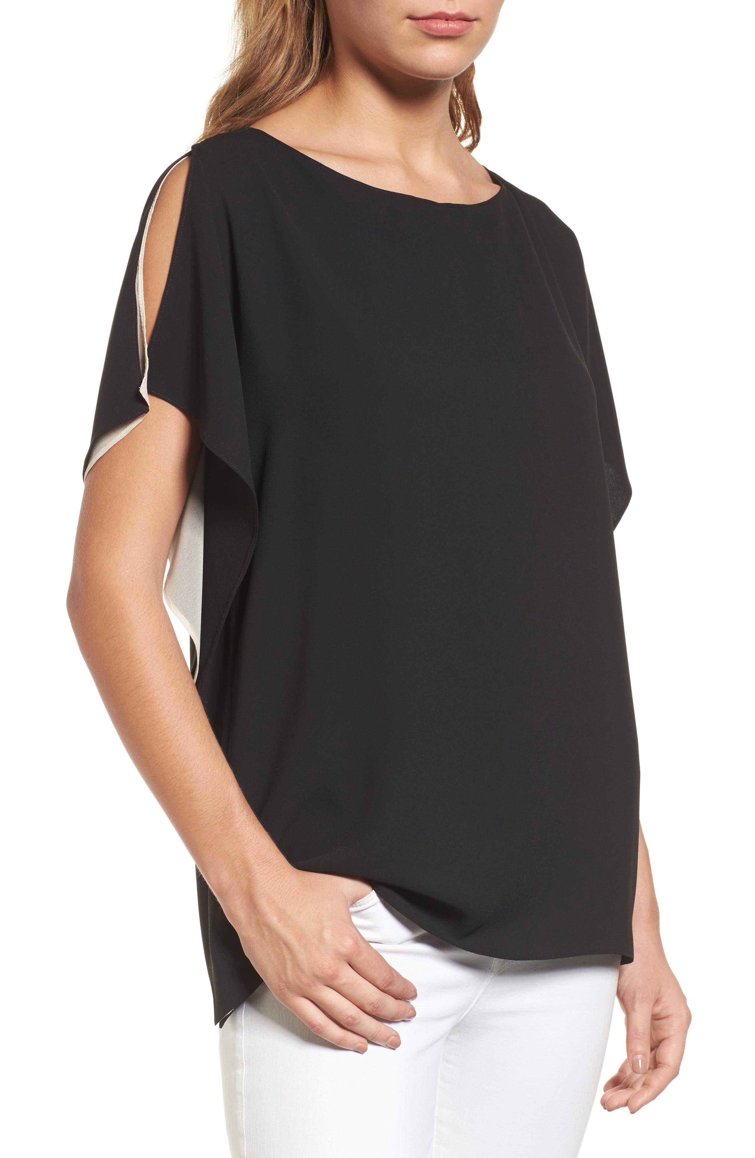 Slit Sleeve Blouse, Main, color, 010