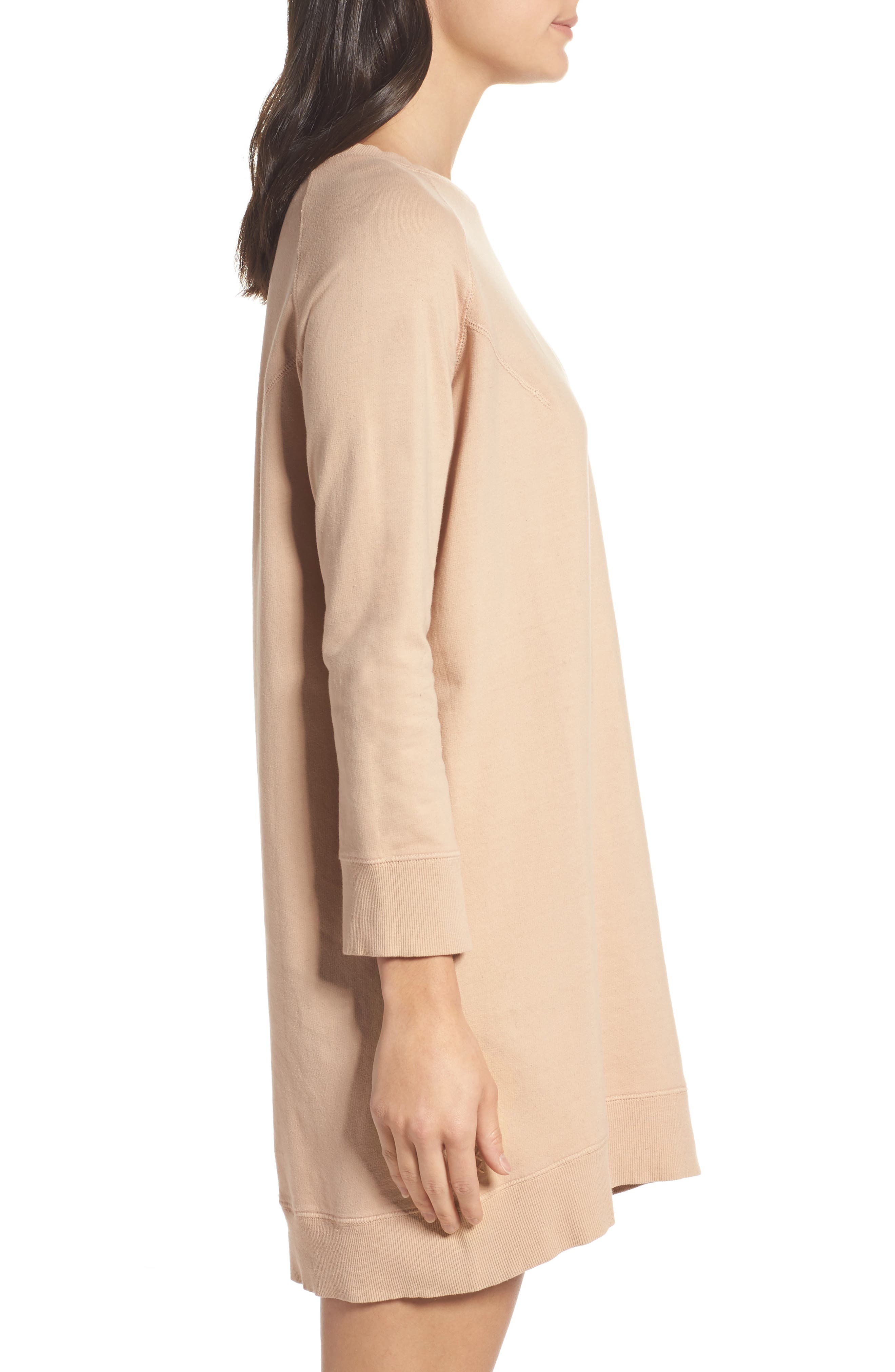 Sweatshirt Dress,                             Alternate thumbnail 3, color,                             950