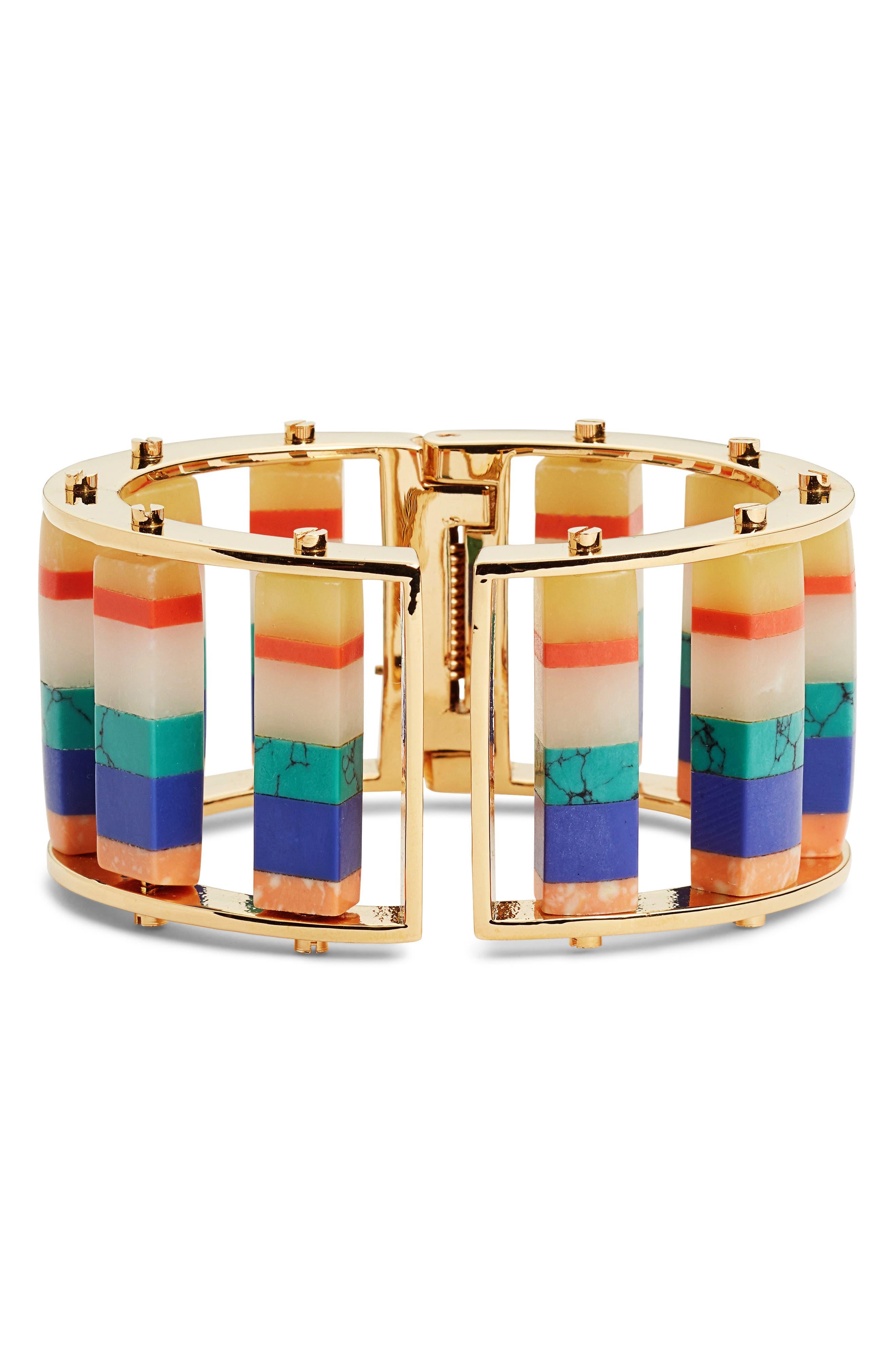 Stripe Hinge Bangle,                         Main,                         color, 400