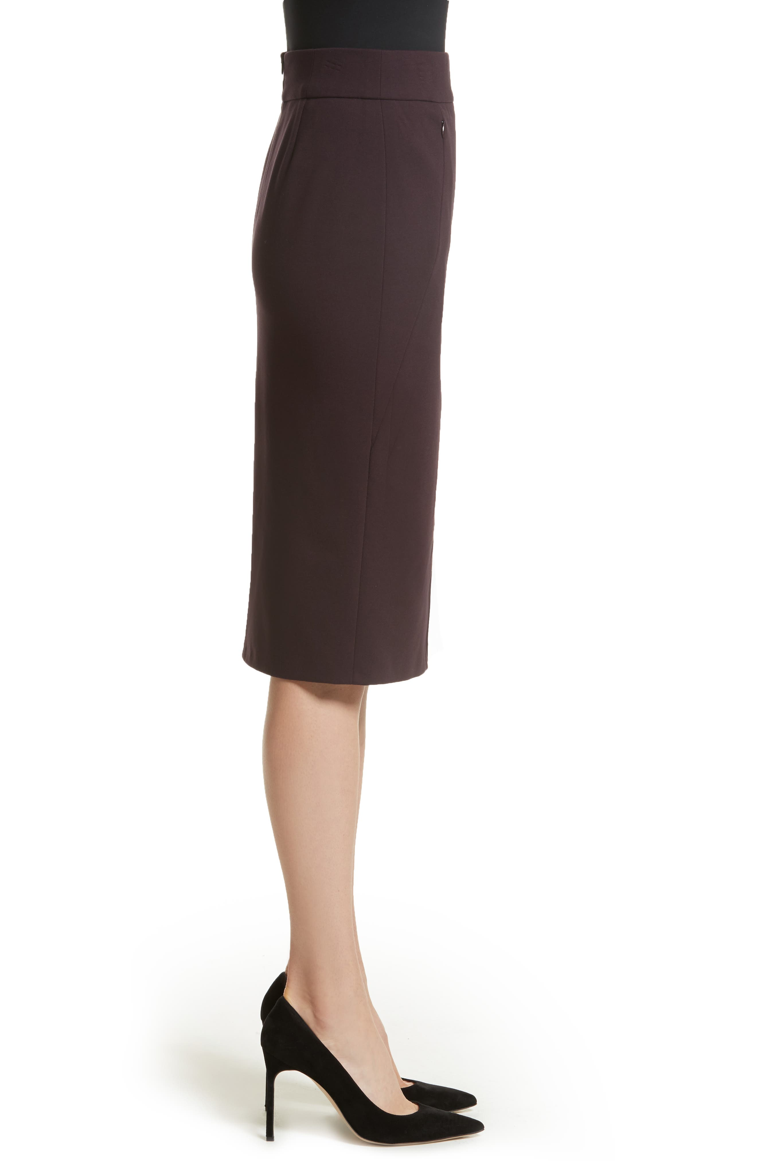Gabardine Pencil Skirt,                             Alternate thumbnail 3, color,                             930
