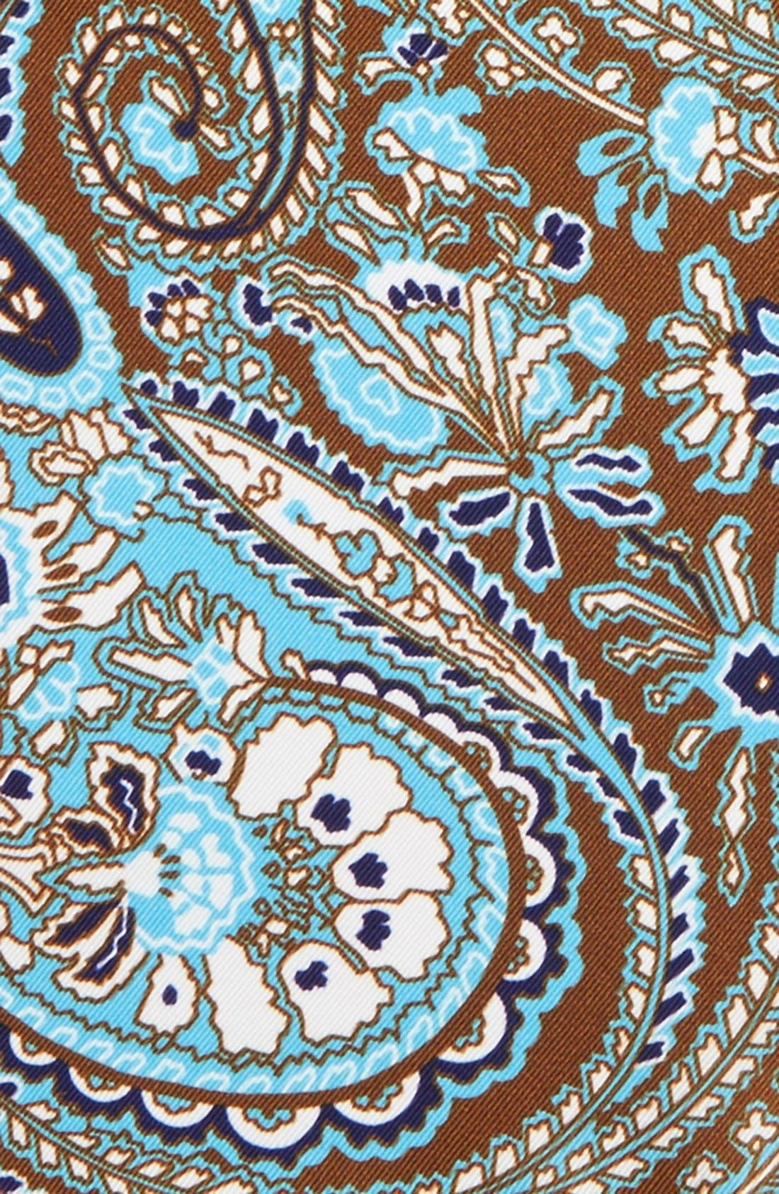 Paisley Silk Pocket Square,                             Alternate thumbnail 3, color,                             200