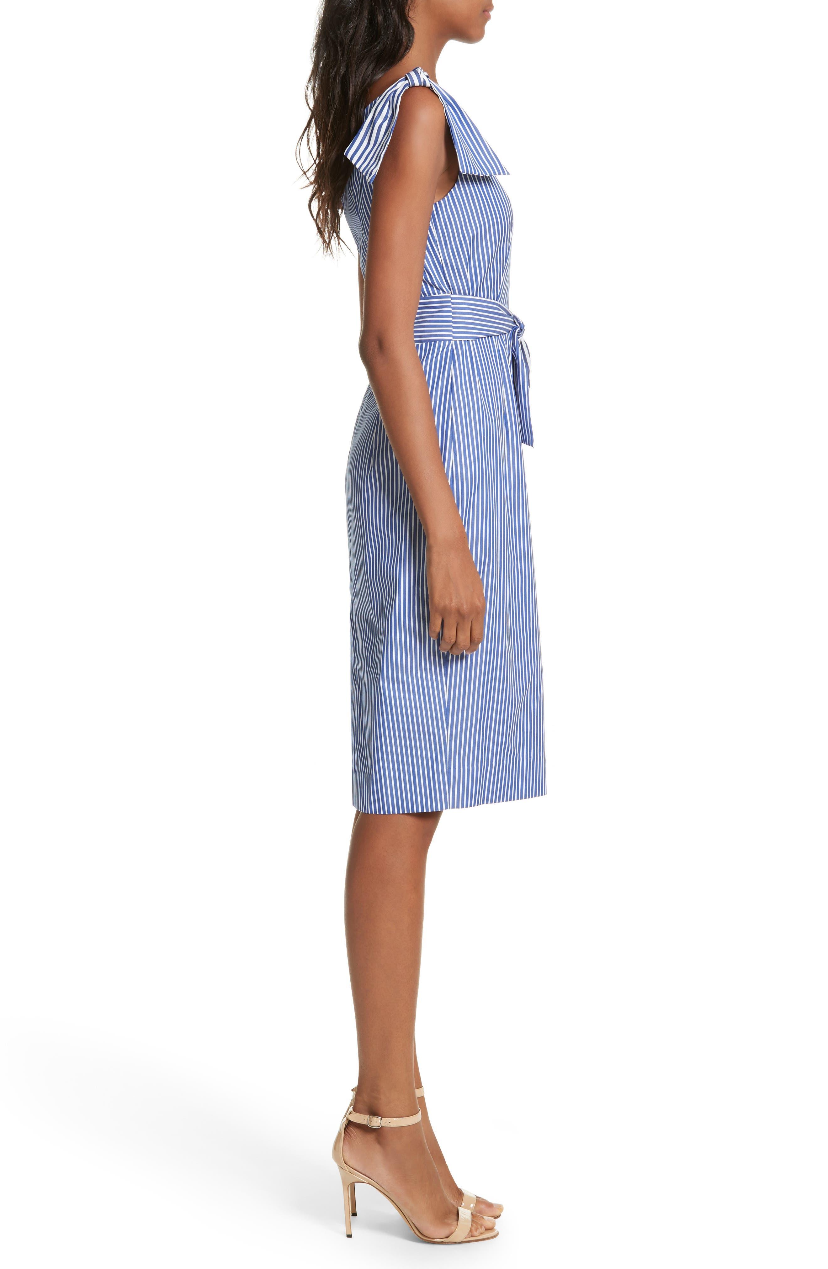 Candice Stripe Shirting Tie Dress,                             Alternate thumbnail 3, color,